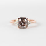 Imogene Ring - .96 Carat Celestial Emerald Cut Diamond in 14k Rose Gold - Ready to size and ship