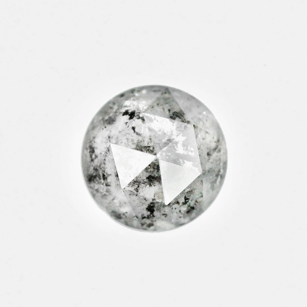 1.38ct 6mm celestial gray round diamond - stock inventory code CRR138
