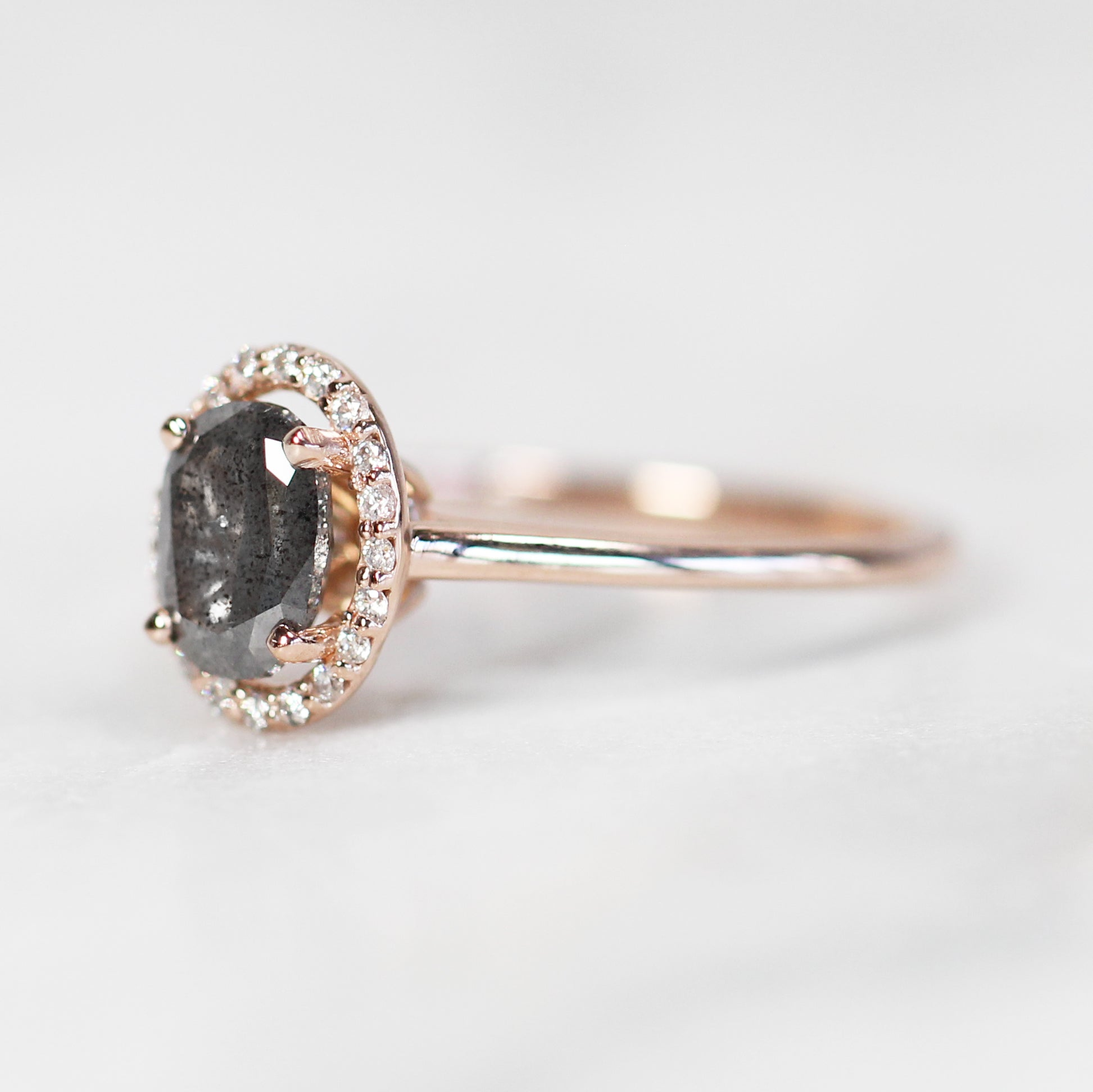 Cheryl Ring with 1.03 Carat Oval Celestial Diamond in 14k Rose Gold - Celestial Diamonds ® by Midwinter Co.