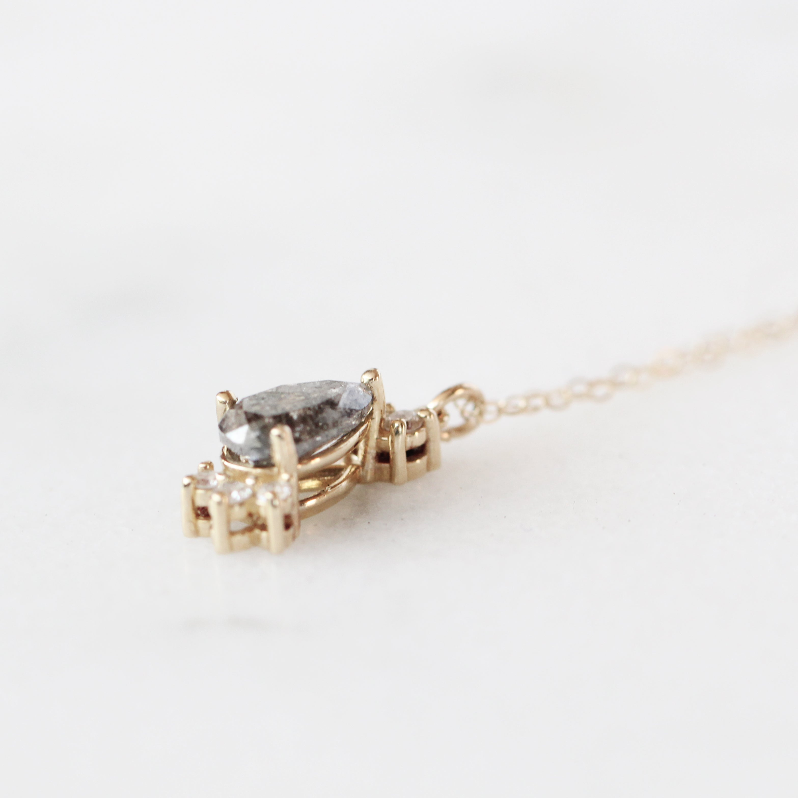 Christina - Petite 14k Diamond Necklace - Ready to Ship - Celestial Diamonds ® by Midwinter Co.