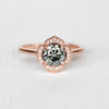 Clementine Ring with a Gray Moissanite in 10k Rose Gold - Ready to Size and Ship - Celestial Diamonds ® by Midwinter Co.