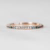 Constance - Pave set, minimal White and Blue diamond ombre fade wedding stacking band - Celestial Diamonds ® by Midwinter Co.