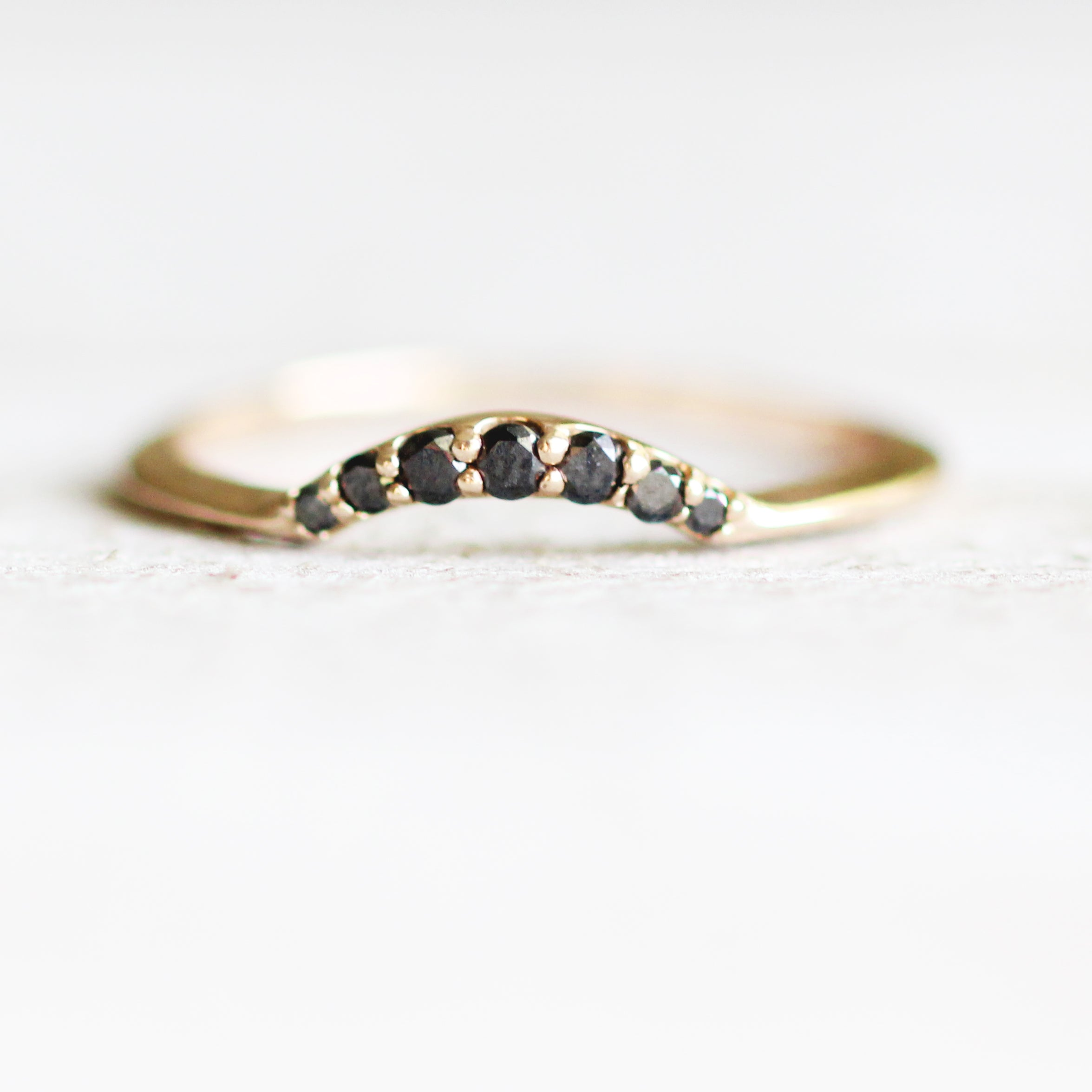Evary - Custom Designed Curved Diamond Wedding Stacking Band - made to order - Celestial Diamonds ® by Midwinter Co.