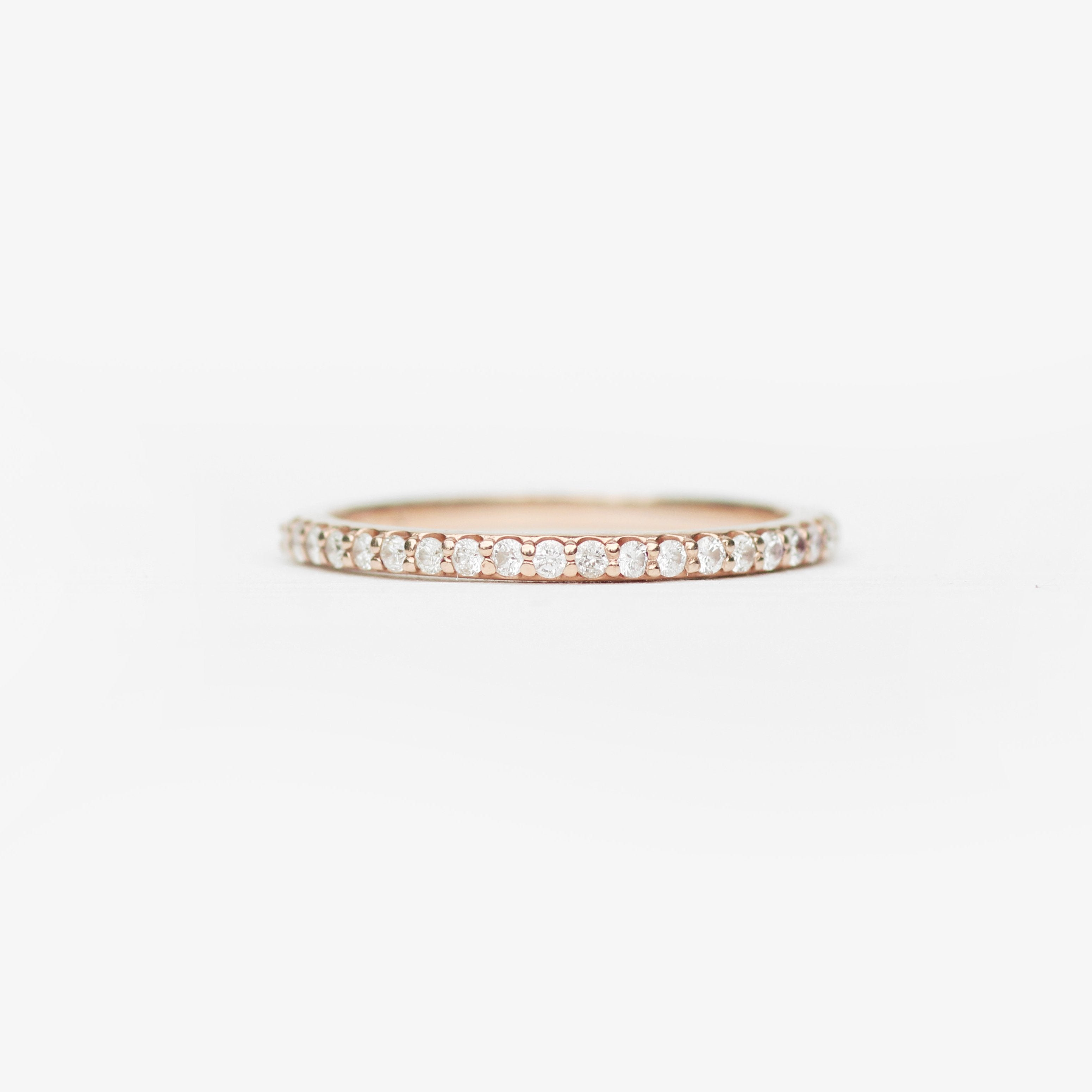 Constance - Pave set, minimal diamond wedding stacking band - Salt & Pepper Celestial Diamond Engagement Rings and Wedding Bands  by Midwinter Co.