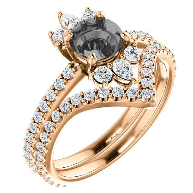 Cora Setting - Salt & Pepper Celestial Diamond Engagement Rings and Wedding Bands  by Midwinter Co.