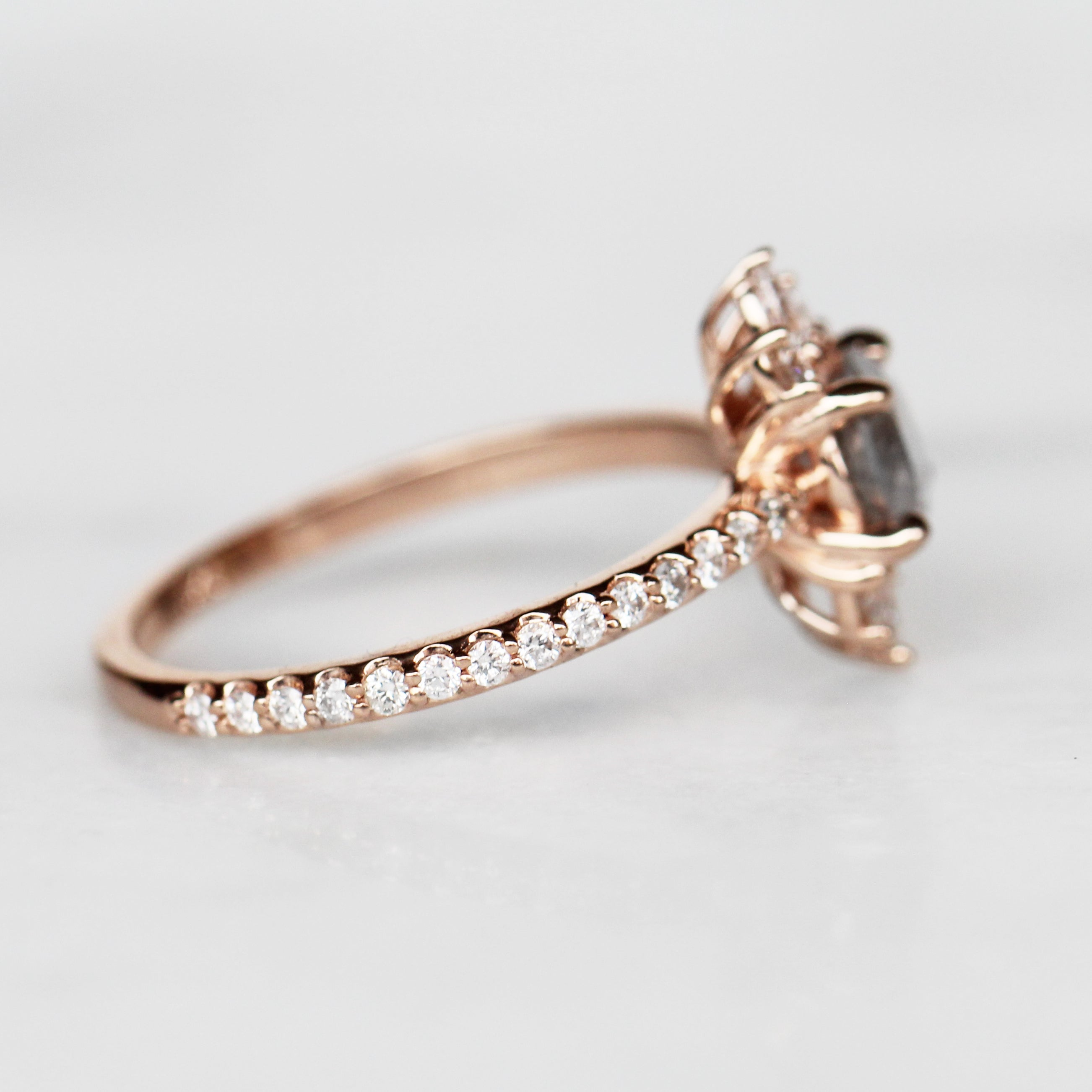 Cora Ring with .72 Carat Celestial Diamond in 10k Rose Gold - Ready to Size and Ship - Celestial Diamonds ® by Midwinter Co.