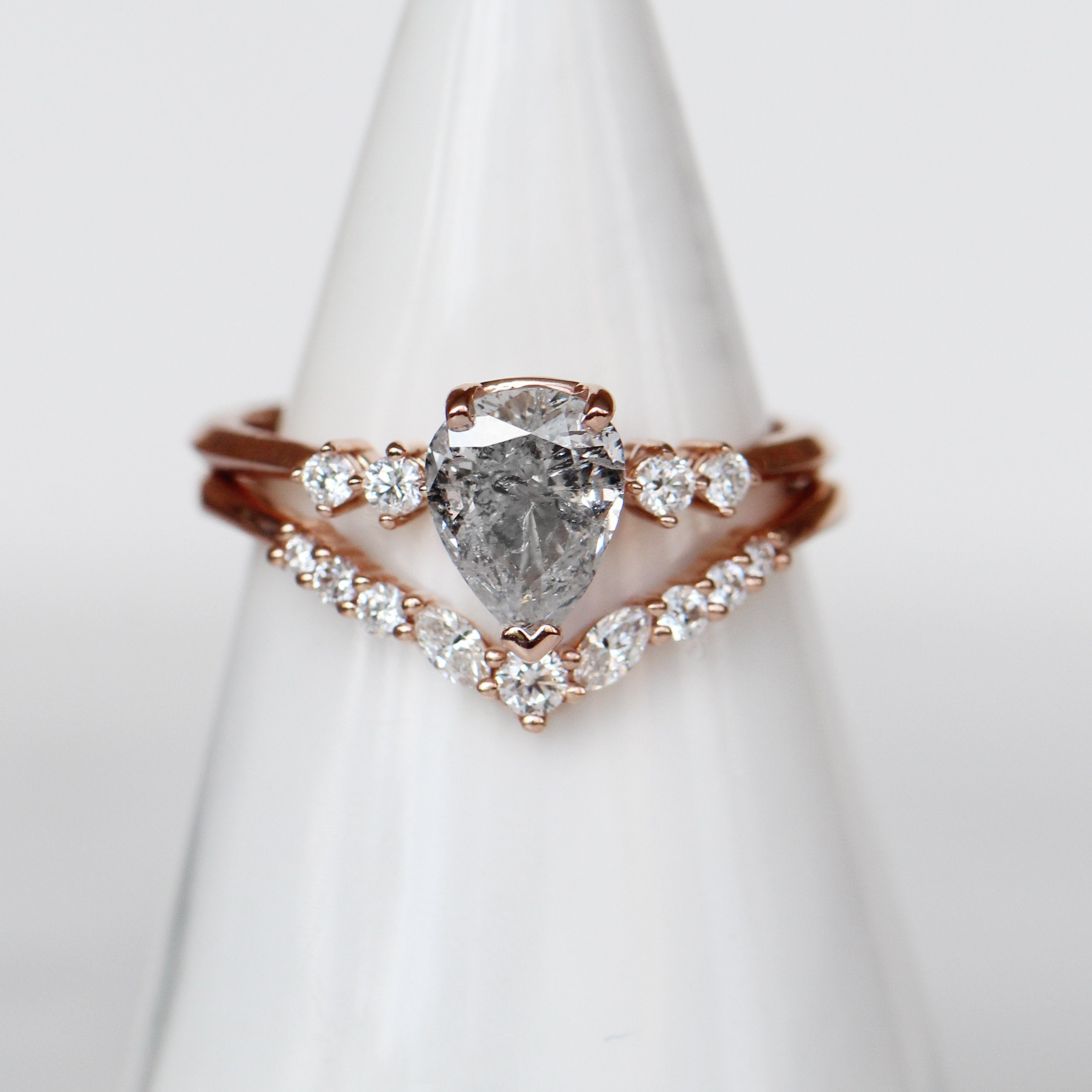 Cordelia Setting - Salt & Pepper Celestial Diamond Engagement Rings and Wedding Bands  by Midwinter Co.