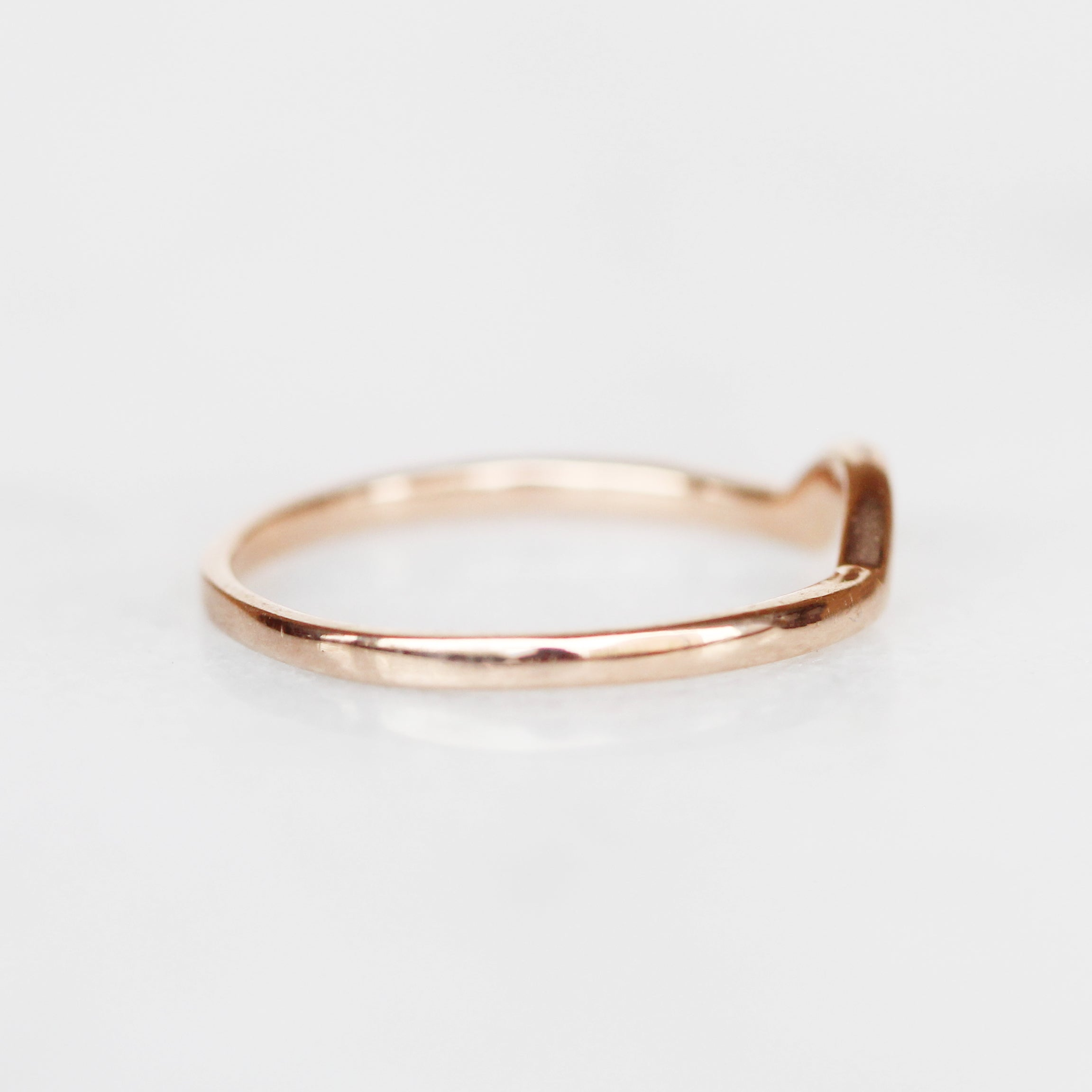 Archer wedding band - customized contour band - 14k gold of choice - Salt & Pepper Celestial Diamond Engagement Rings and Wedding Bands  by Midwinter Co.
