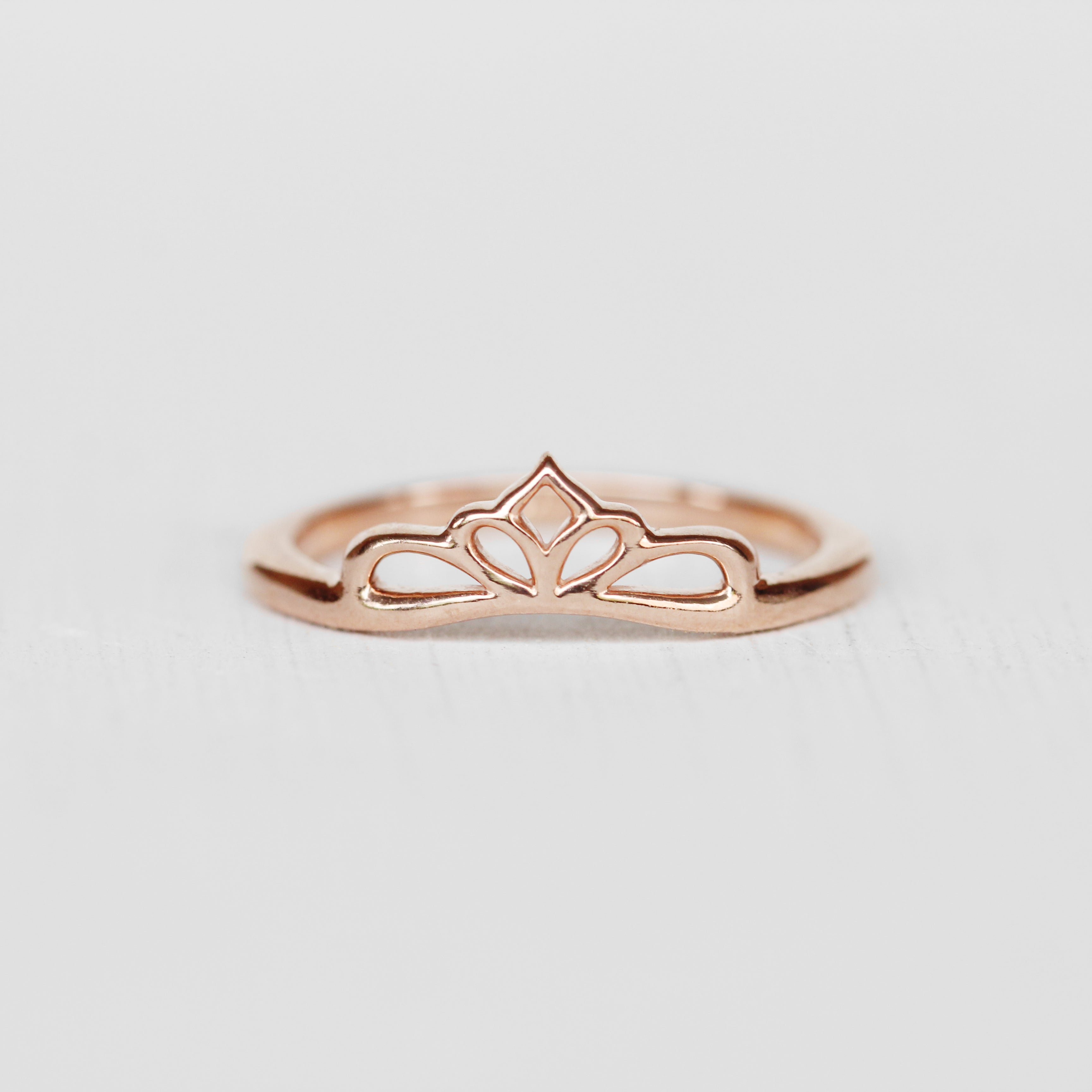 Liesbeth Ring -  Stackable band in 14k Gold - Made to Order - Celestial Diamonds ® by Midwinter Co.