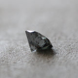 8.6mm 2.07 carat Dark Clear Charcoal Gray Black Moissanite - Inventory Code DGM207