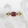 Darian Ring with an 1.26 ct Ruby in 10k Yellow Gold - Ready to Size and Ship - Salt & Pepper Celestial Diamond Engagement Rings and Wedding Bands  by Midwinter Co.