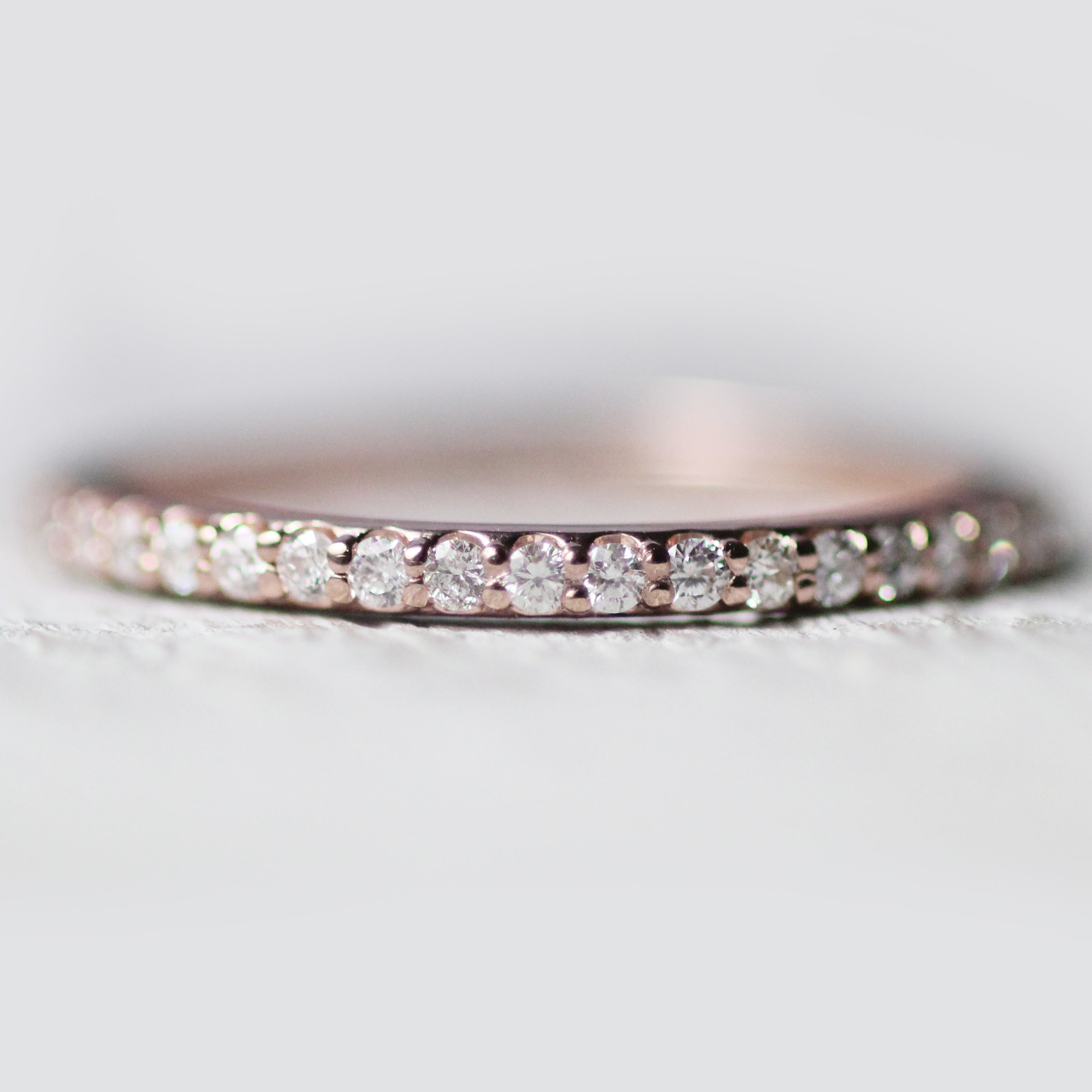 Constance - Pave set, minimal diamond wedding stacking band - Midwinter Co. Alternative Bridal Rings and Modern Fine Jewelry
