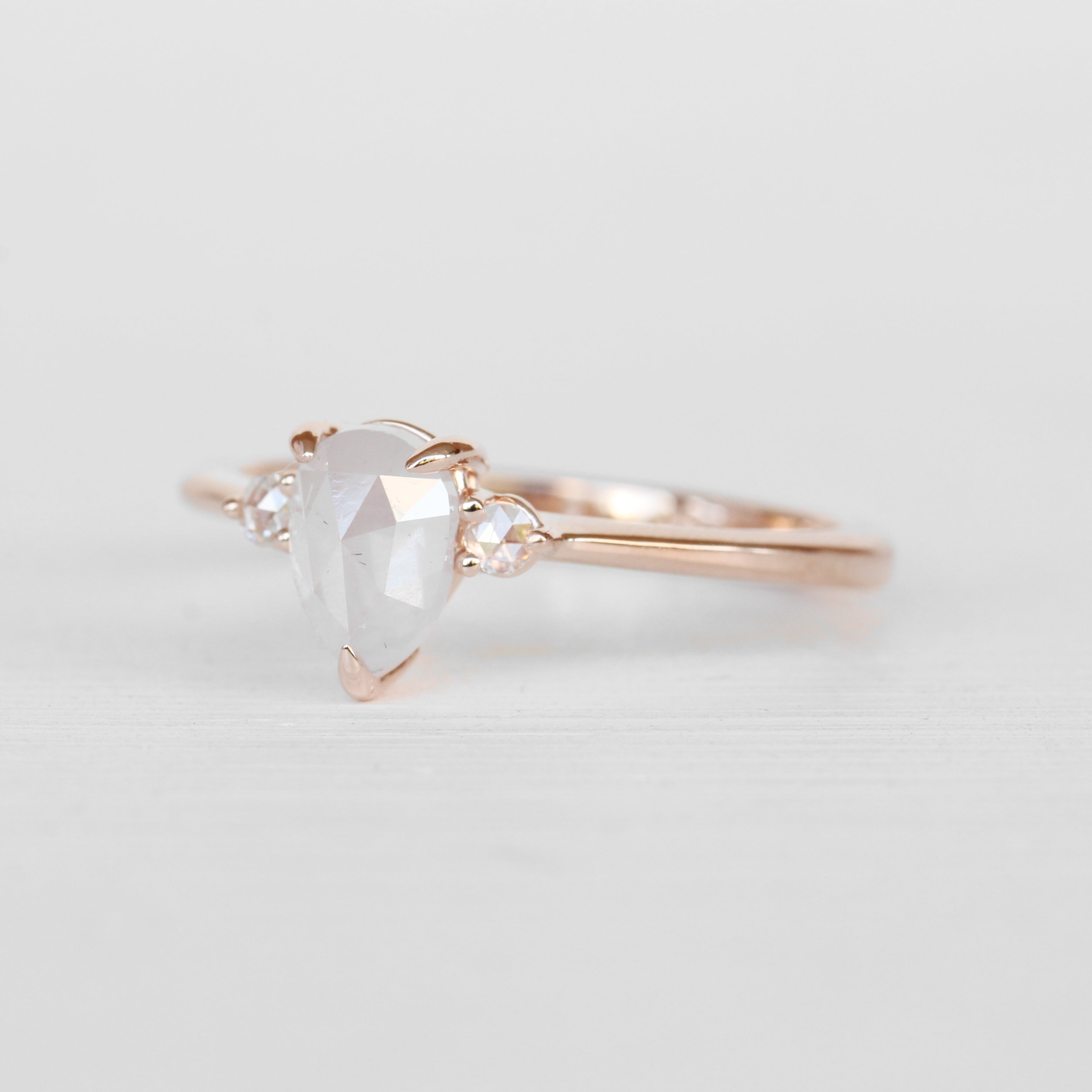 Drea Ring with a .91 ct Misty White Diamond in 10k Rose Gold - Ready to Size and Ship - Celestial Diamonds ® by Midwinter Co.