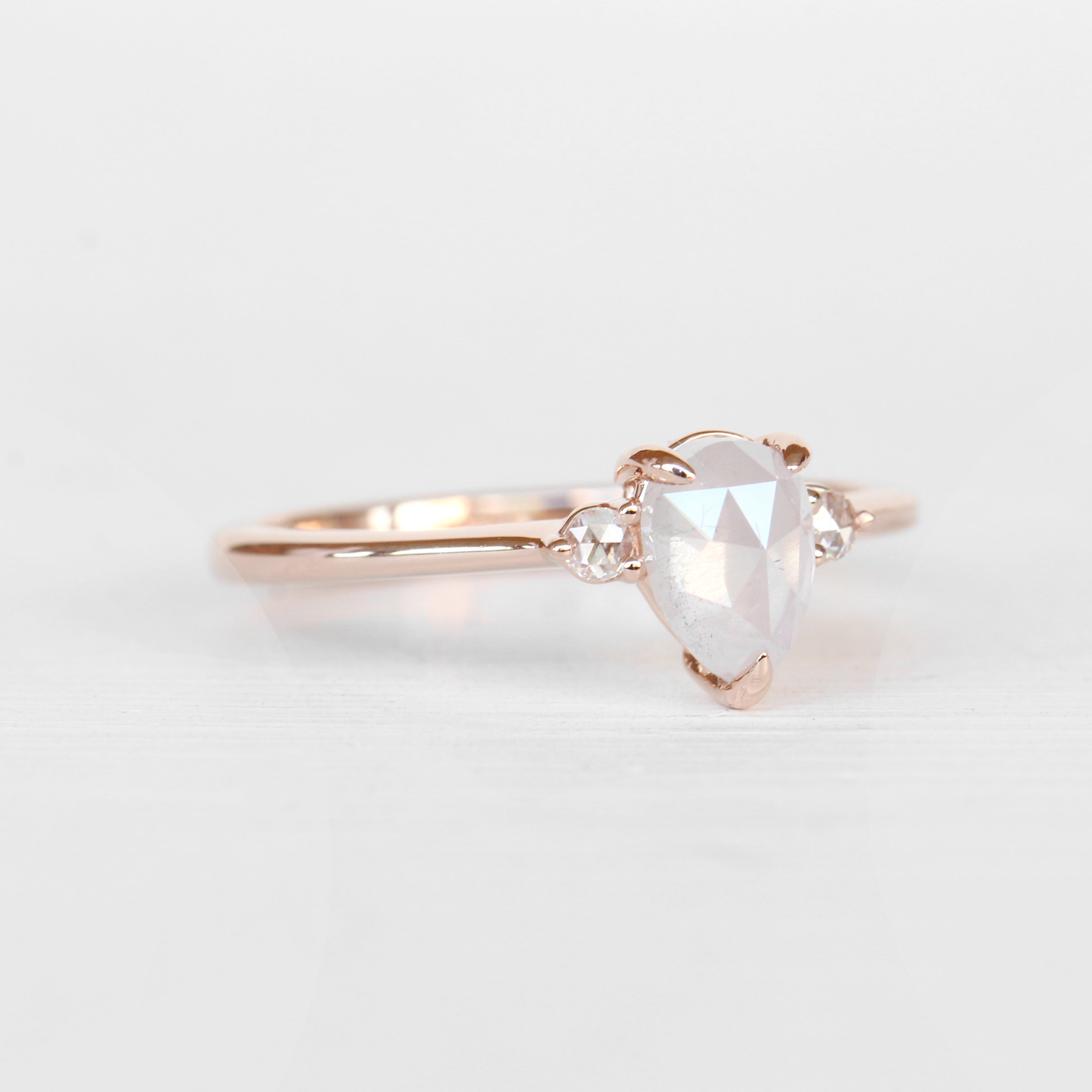 Drea Ring with a .91 ct Misty White Diamond in 10k Rose Gold - Ready to Size and Ship