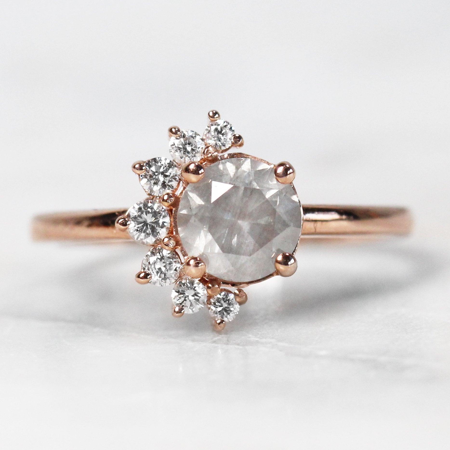 Drew Setting - Salt & Pepper Celestial Diamond Engagement Rings and Wedding Bands  by Midwinter Co.