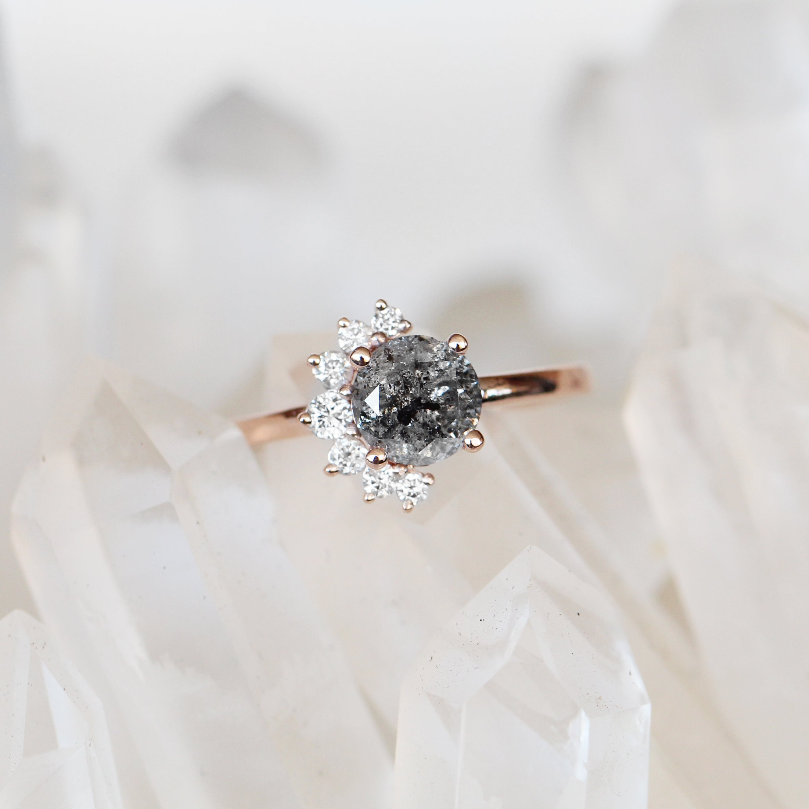 Drew Ring with a 1.24ct Celestial Diamond ® in 10k Rose Gold - Ready to Size and Ship - Celestial Diamonds ® by Midwinter Co.