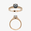 Edith Setting - Salt & Pepper Celestial Diamond Engagement Rings and Wedding Bands  by Midwinter Co.