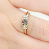 Felicity - Celestial Diamond with Accents in an Antique 14k Yellow Gold Setting - Ready to Size and Ship