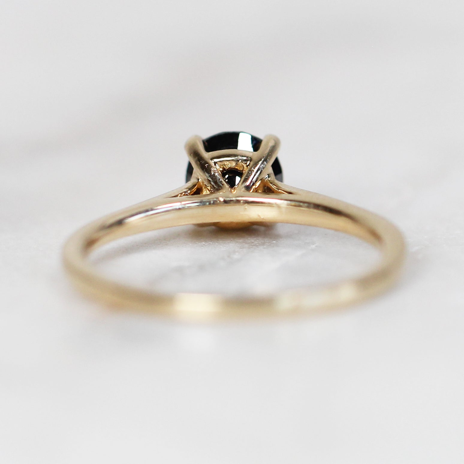 Elle - 1 carat Black diamond ring - Your choice of gold