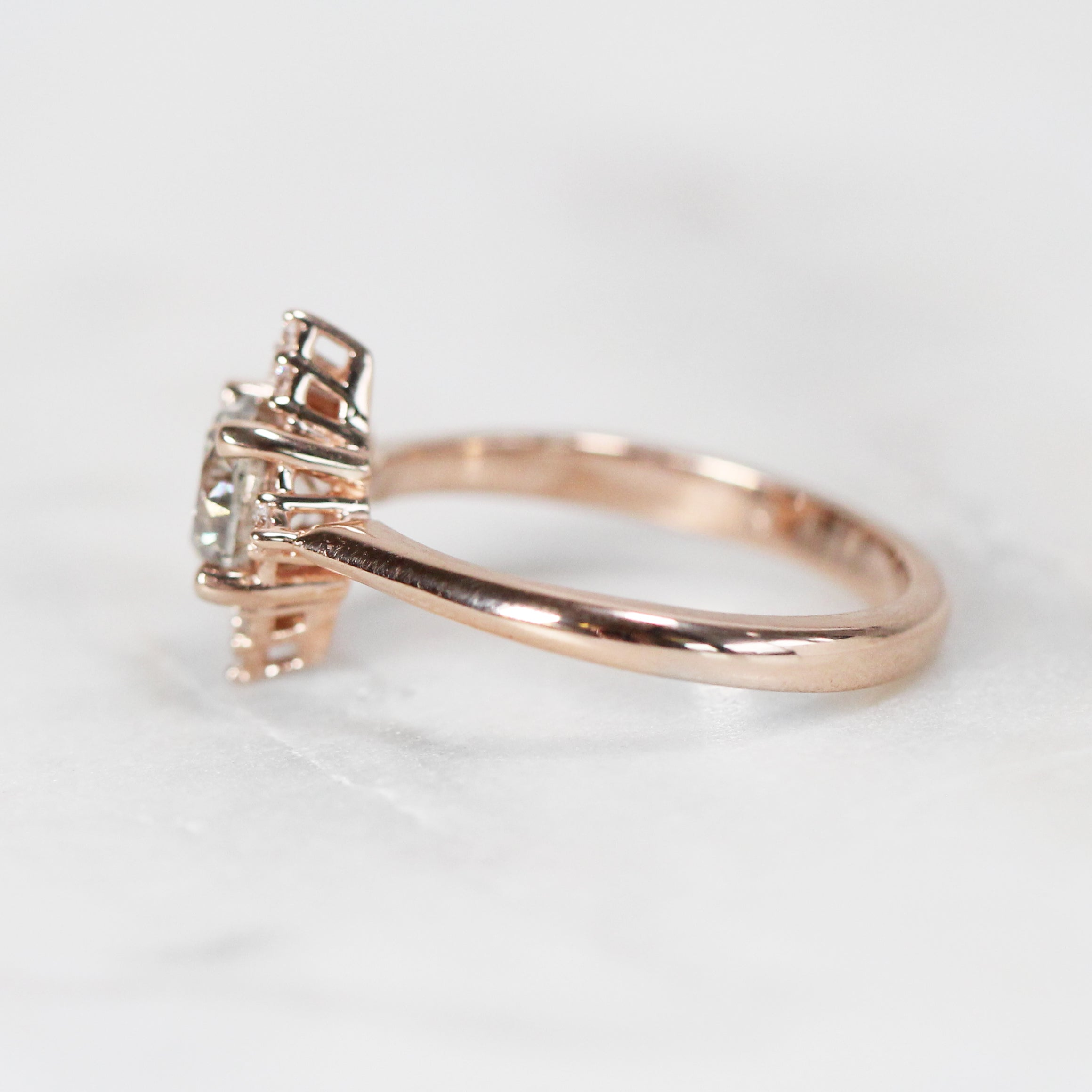 Emery Ring with 1.03 ct Brilliant Round Champagne Celestial Diamond in 10k Rose Gold - Ready to Size and Ship - Celestial Diamonds ® by Midwinter Co.