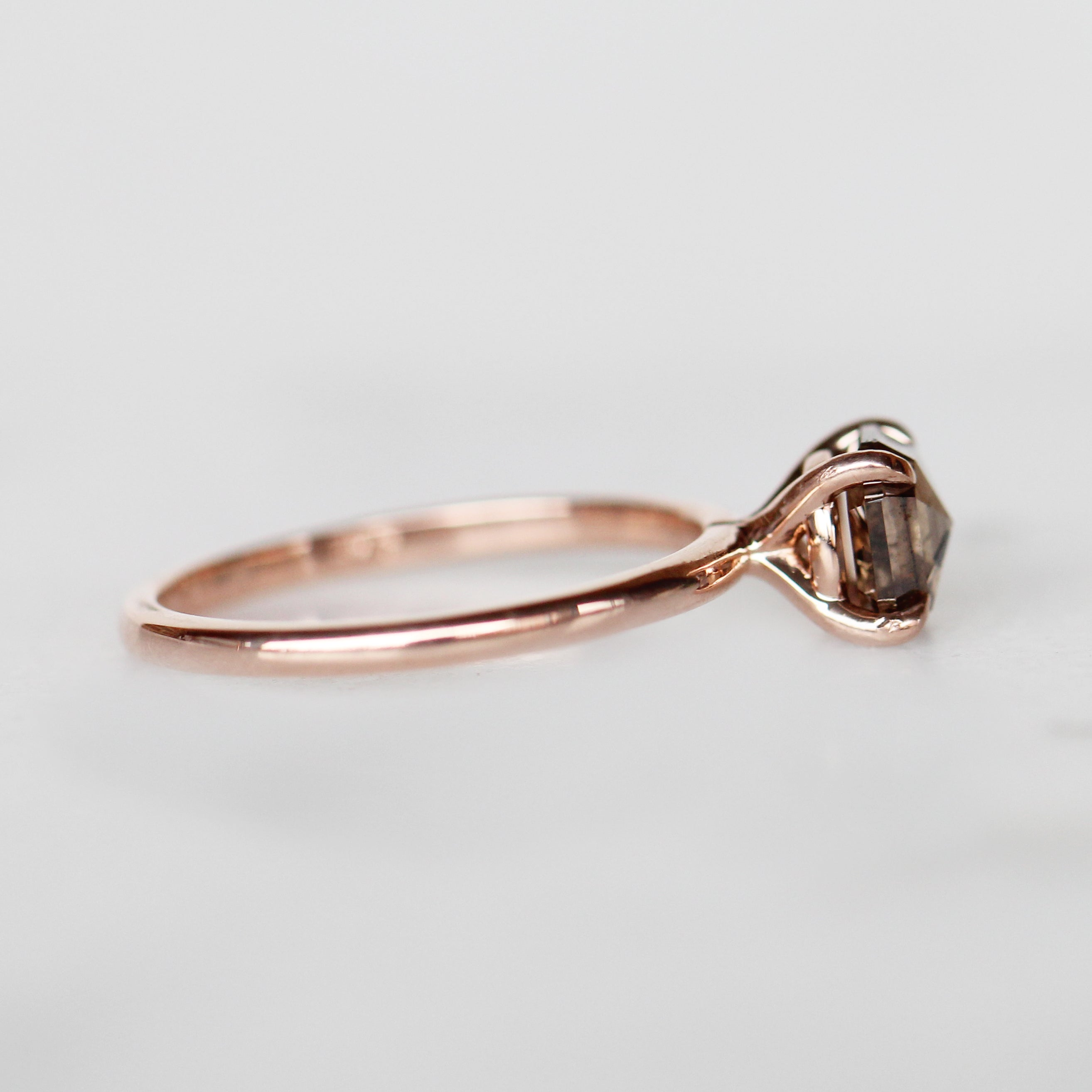 Emma Ring with 1.23 carat Asscher Diamond in 14k Rose Gold-Ready to Size and Ship - Celestial Diamonds ® by Midwinter Co.