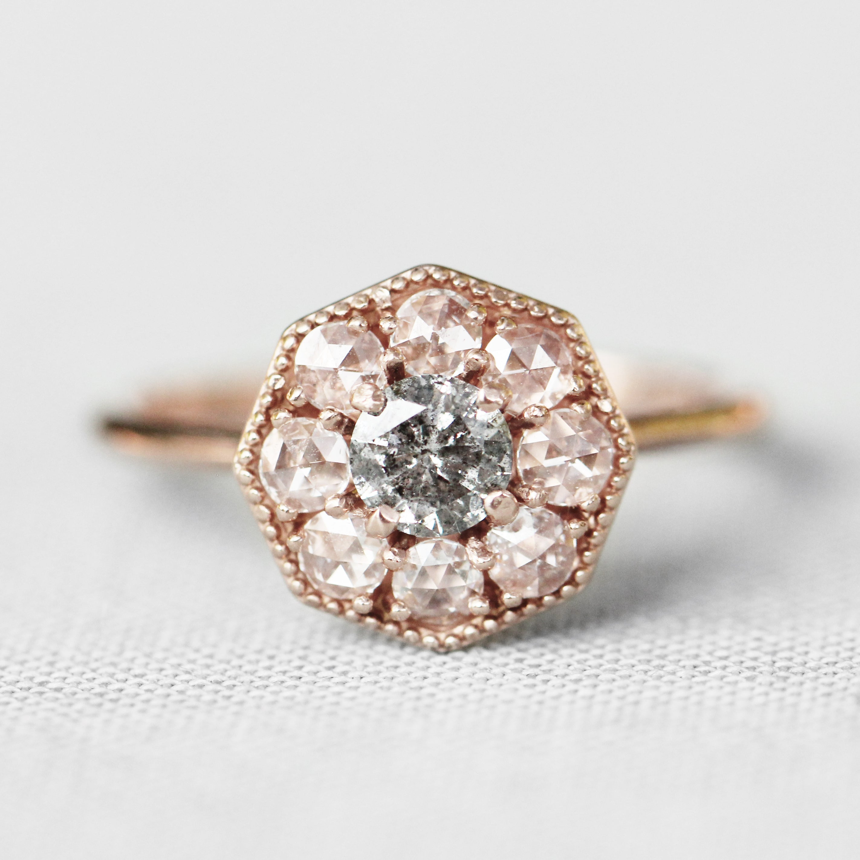 Ethel Ring with a Celestial Diamond in Your Choice of 14k Gold - Made to Order - Celestial Diamonds ® by Midwinter Co.