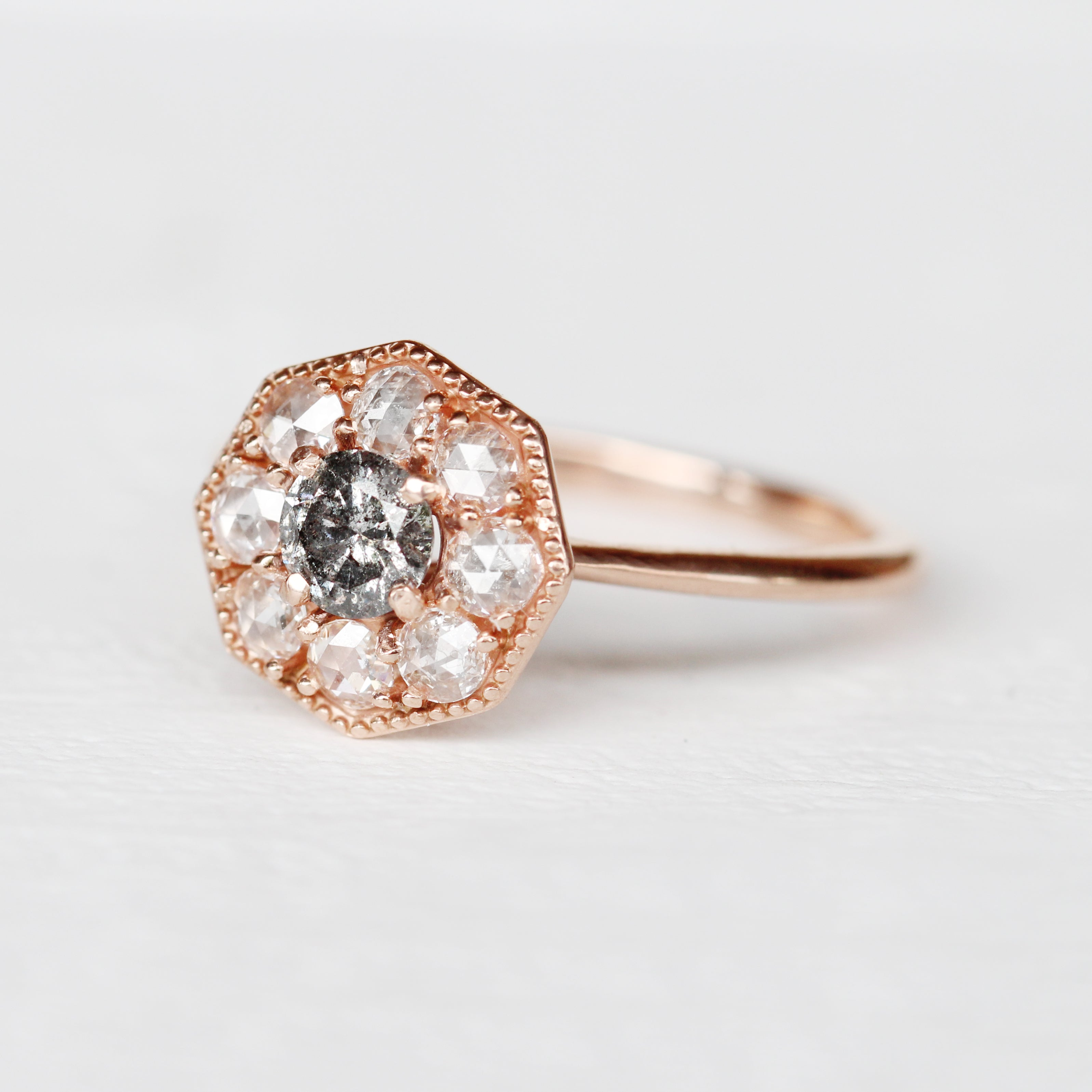 Ethel Ring with a Celestial Diamond in Your Choice of 14k Gold - Made to Order - Midwinter Co. Alternative Bridal Rings and Modern Fine Jewelry