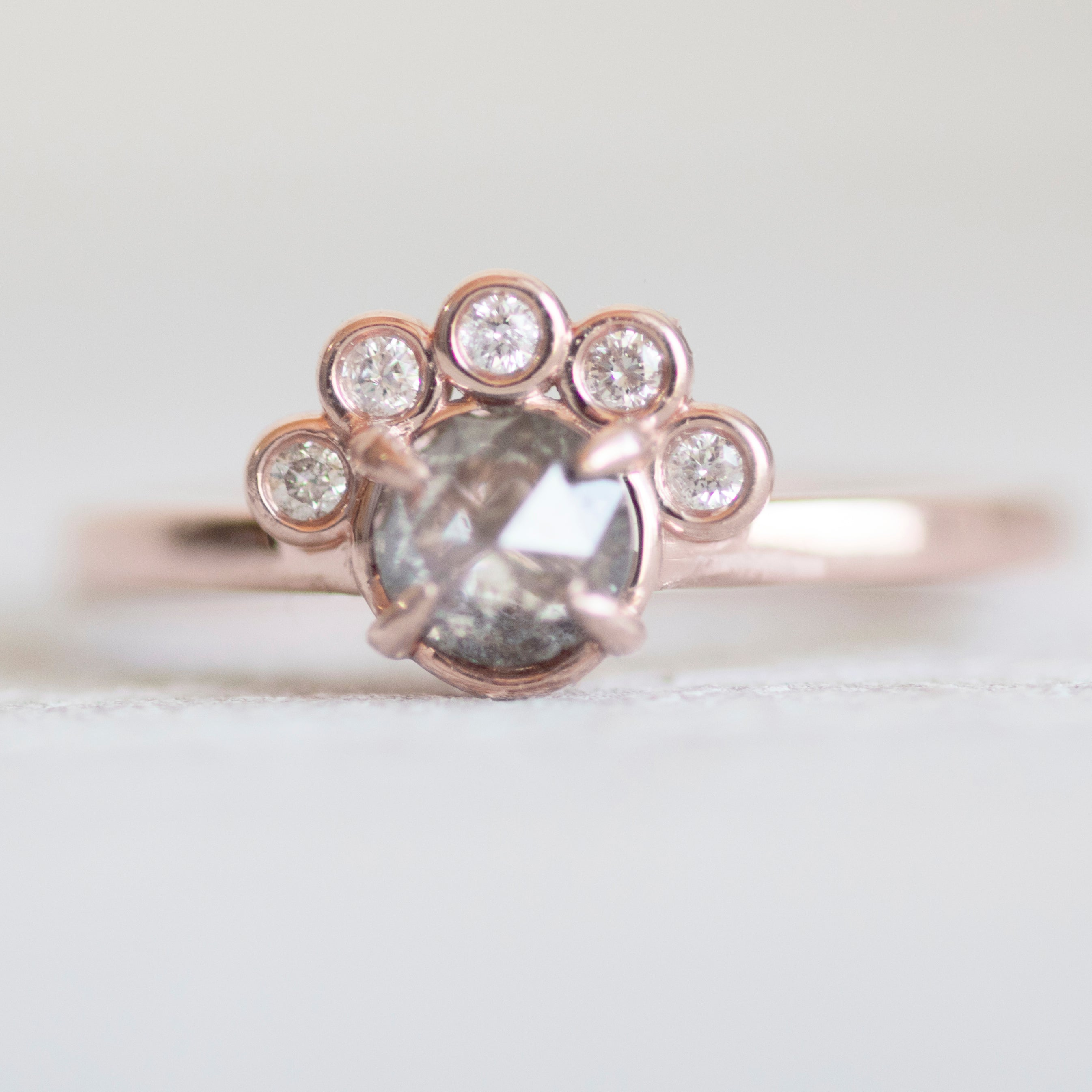 Evegwen Ring with a .45 ct Celestial Diamond® in 10k Rose Gold - Ready to size and ship - Celestial Diamonds ® by Midwinter Co.