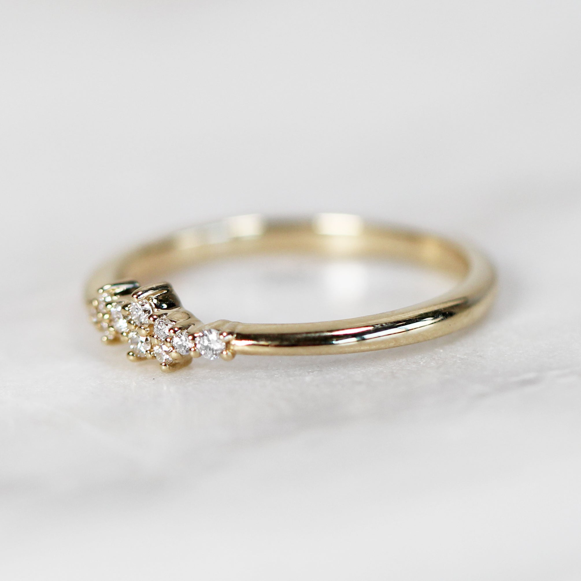 Fiona - Cluster style diamond band - Celestial Diamonds ® by Midwinter Co.