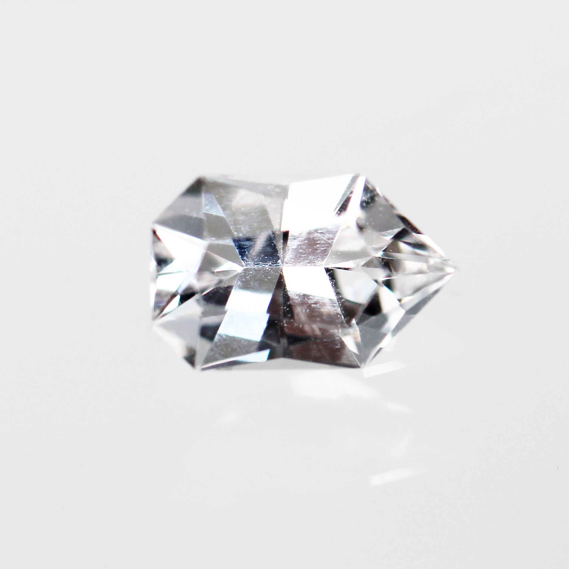 1.44 Carat Geometric Danburite for Custom Work - Inventory Code GBDAN144 - Salt & Pepper Celestial Diamond Engagement Rings and Wedding Bands  by Midwinter Co.