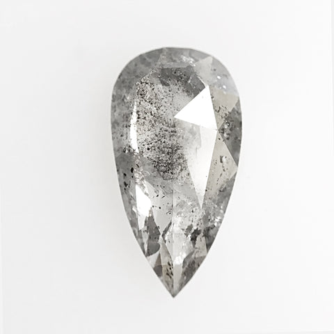 1.10 carat elongated pear shaped rose cut celestial gray diamond for custom work - inventory code GP110