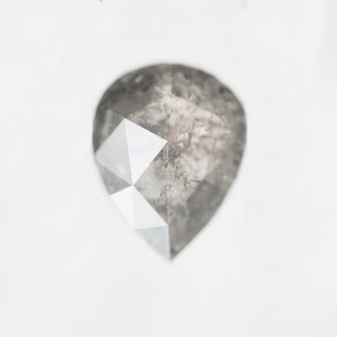 1 carat 7.3x5.8mm Gray Celestial Misty Pear Diamond - Inventory Code GRP1A
