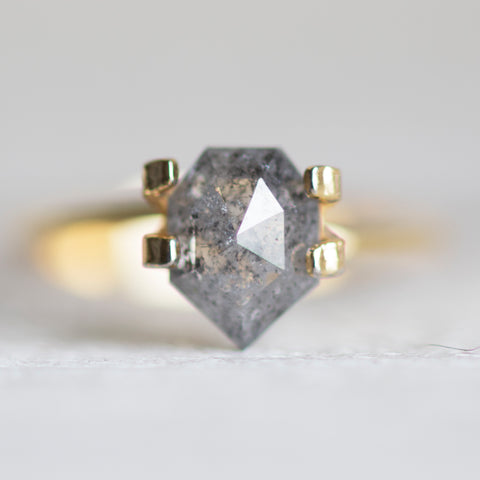 1.66 carat geometric shield gray celestial salt and pepper diamond - Inventory code: GS166