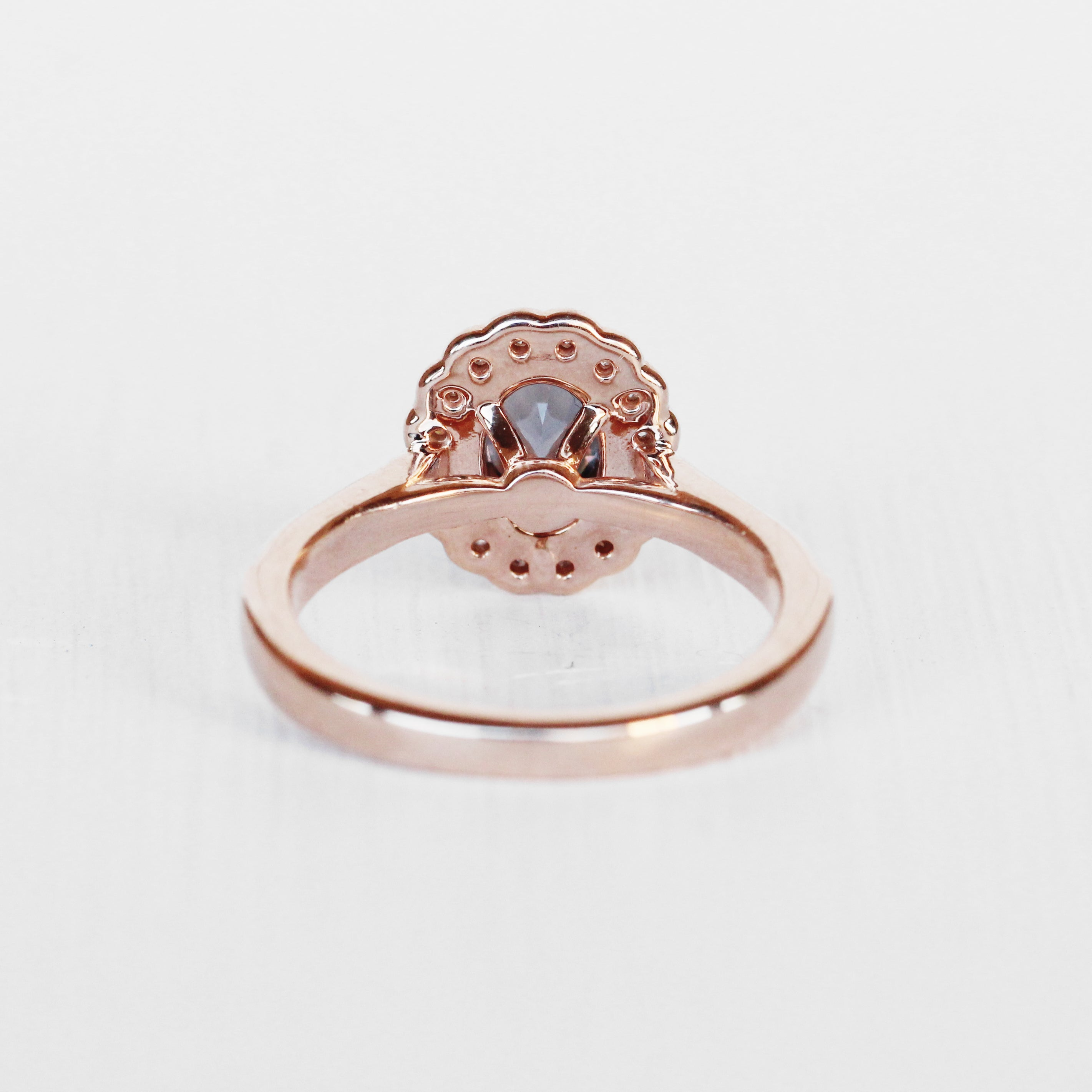 Gloriana Ring with a Spinel in 10k Rose Gold - Ready to Size and Ship