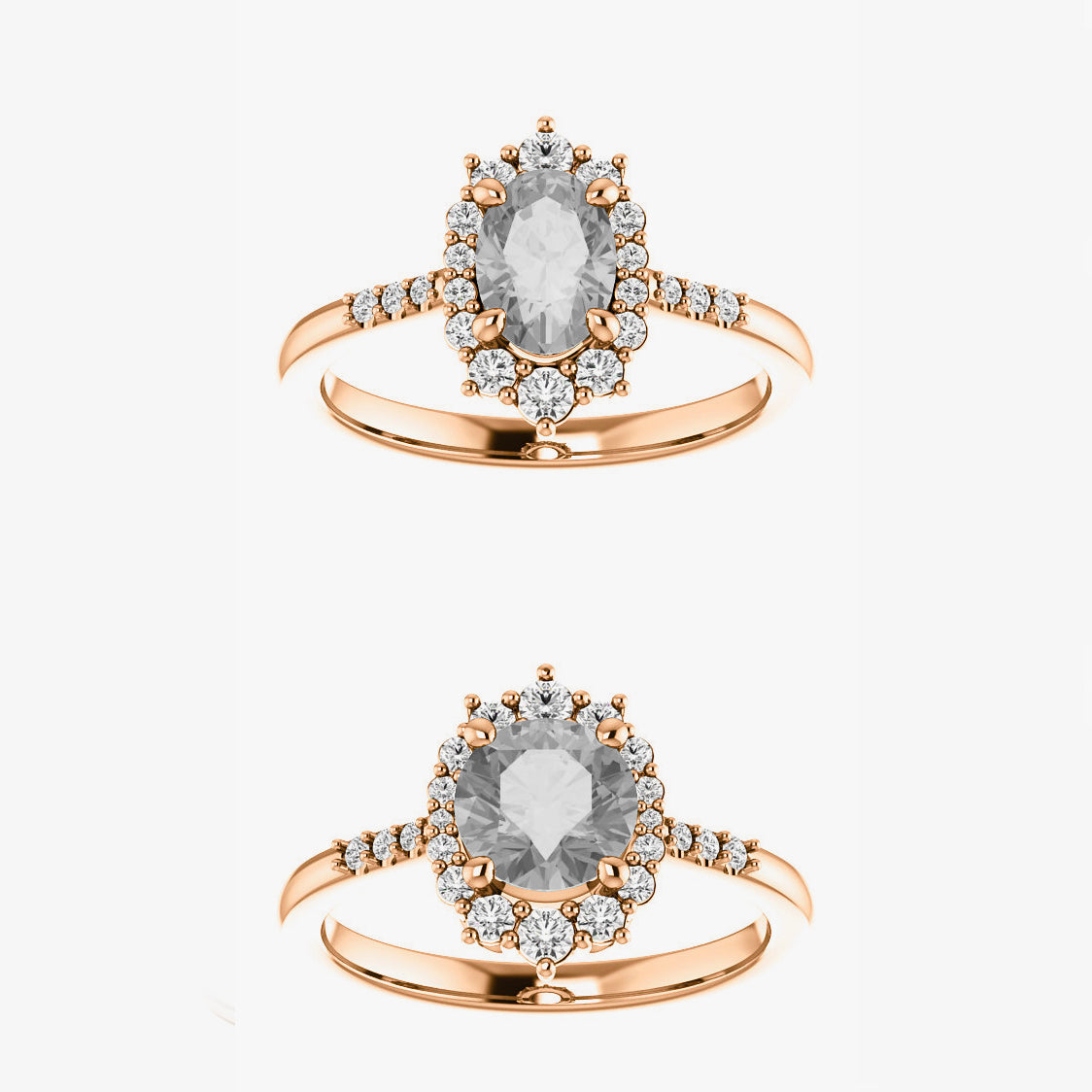 Grace Setting - Salt & Pepper Celestial Diamond Engagement Rings and Wedding Bands  by Midwinter Co.