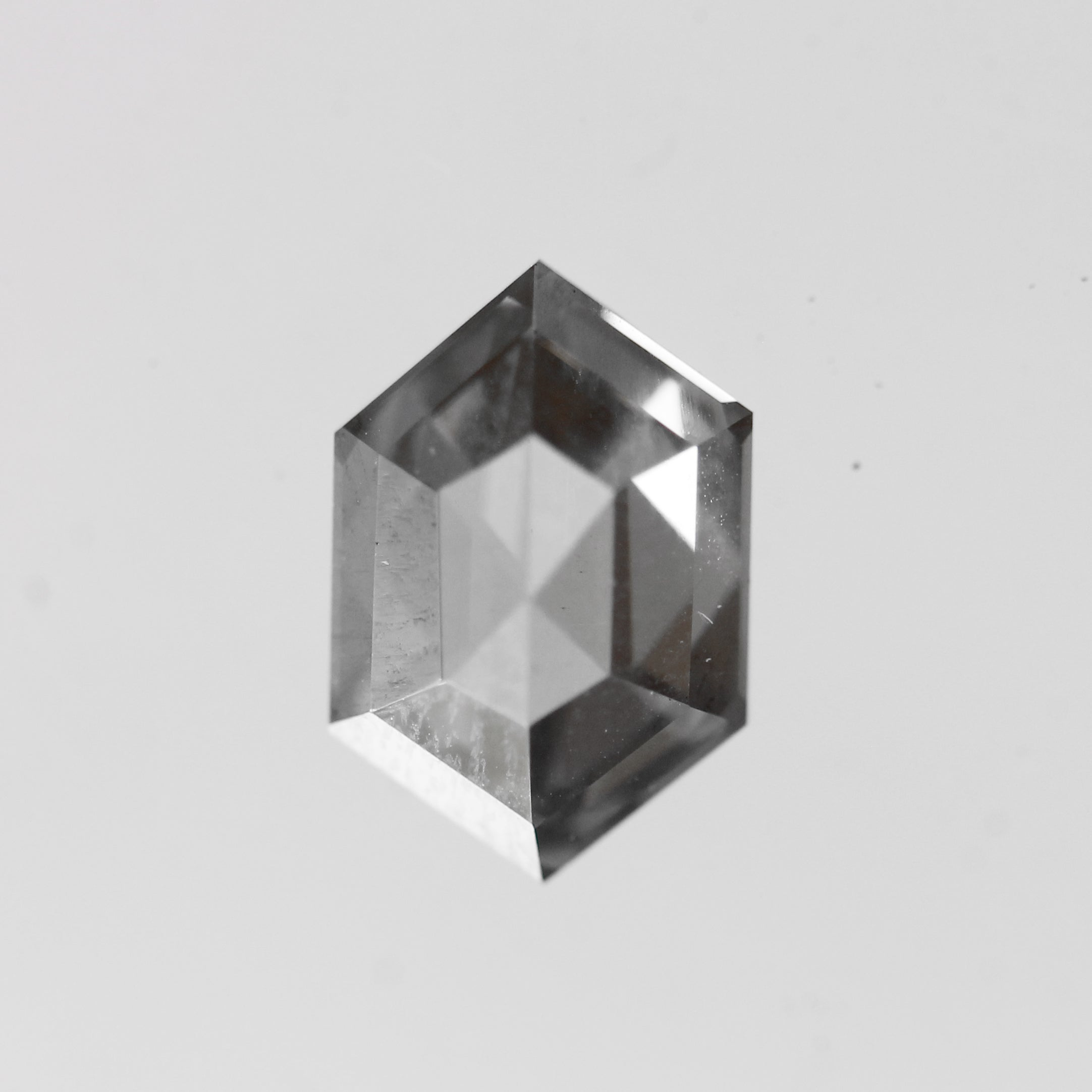 2.08 Carat Hexagon Moissanite - Inventory Code HXMOI208 - Midwinter Co. Alternative Bridal Rings and Modern Fine Jewelry