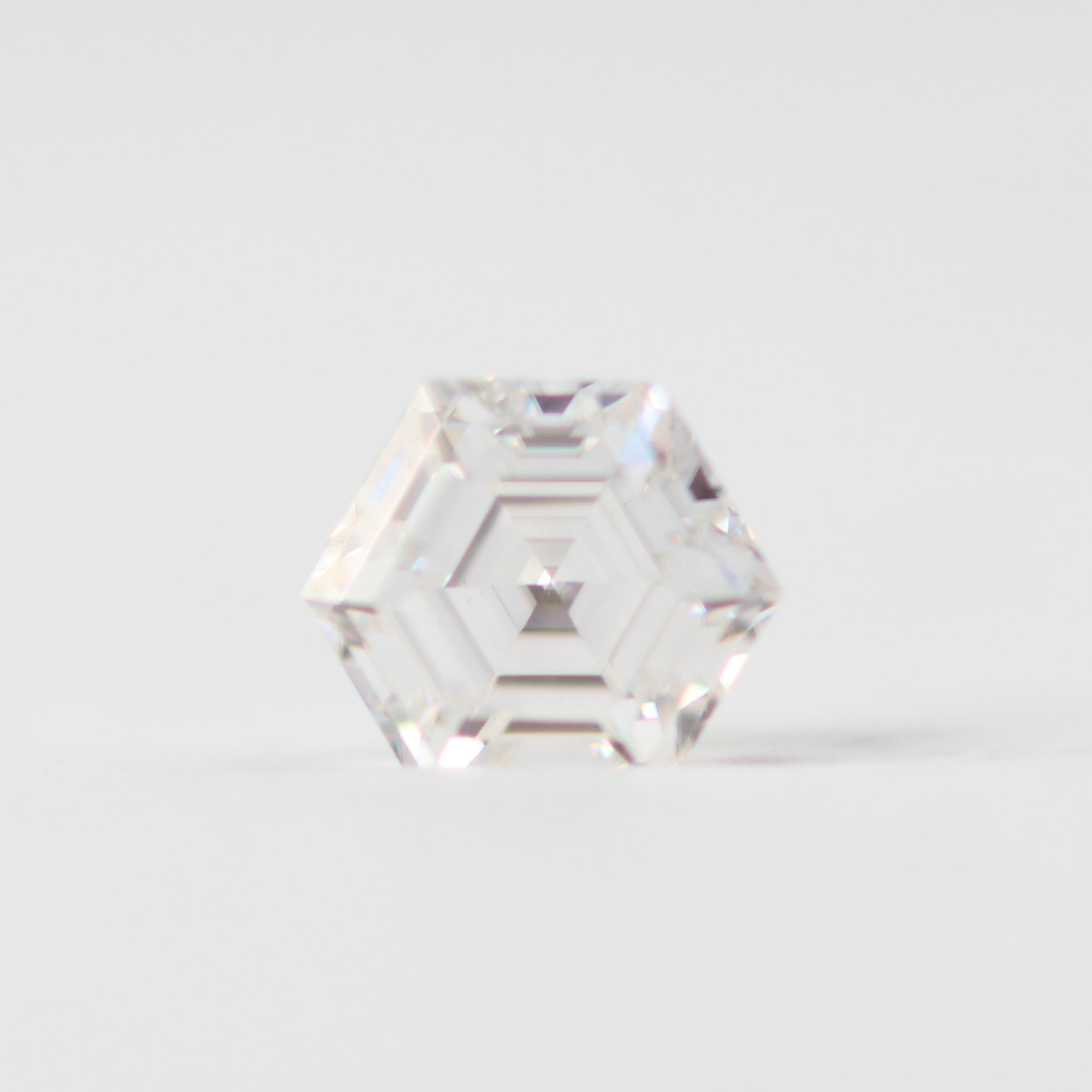 6mm Clear Hexagon Moissanite - Inventory Code MHEX1