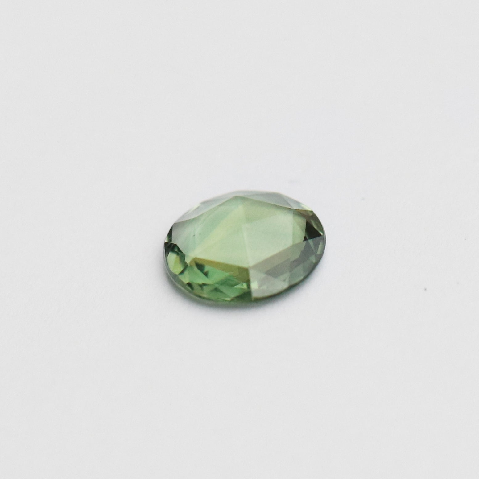 1.19 carat round rose cut green teal Sapphire - inventory code: GRSA119 - Midwinter Co. Alternative Bridal Rings and Modern Fine Jewelry