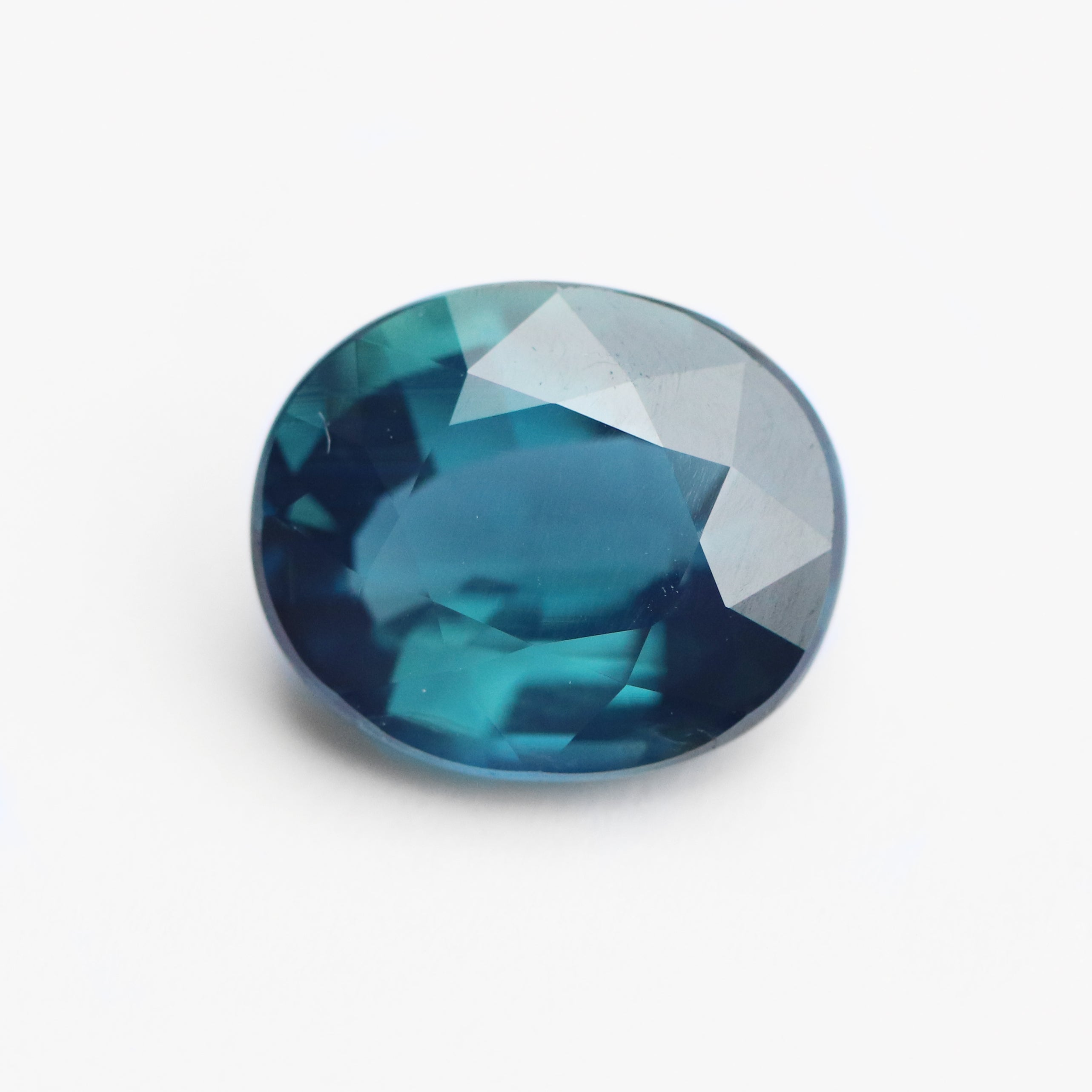 3.12 carat blue green teal oval sapphire - custom work - inventory code: MTBO312 - Midwinter Co. Alternative Bridal Rings and Modern Fine Jewelry