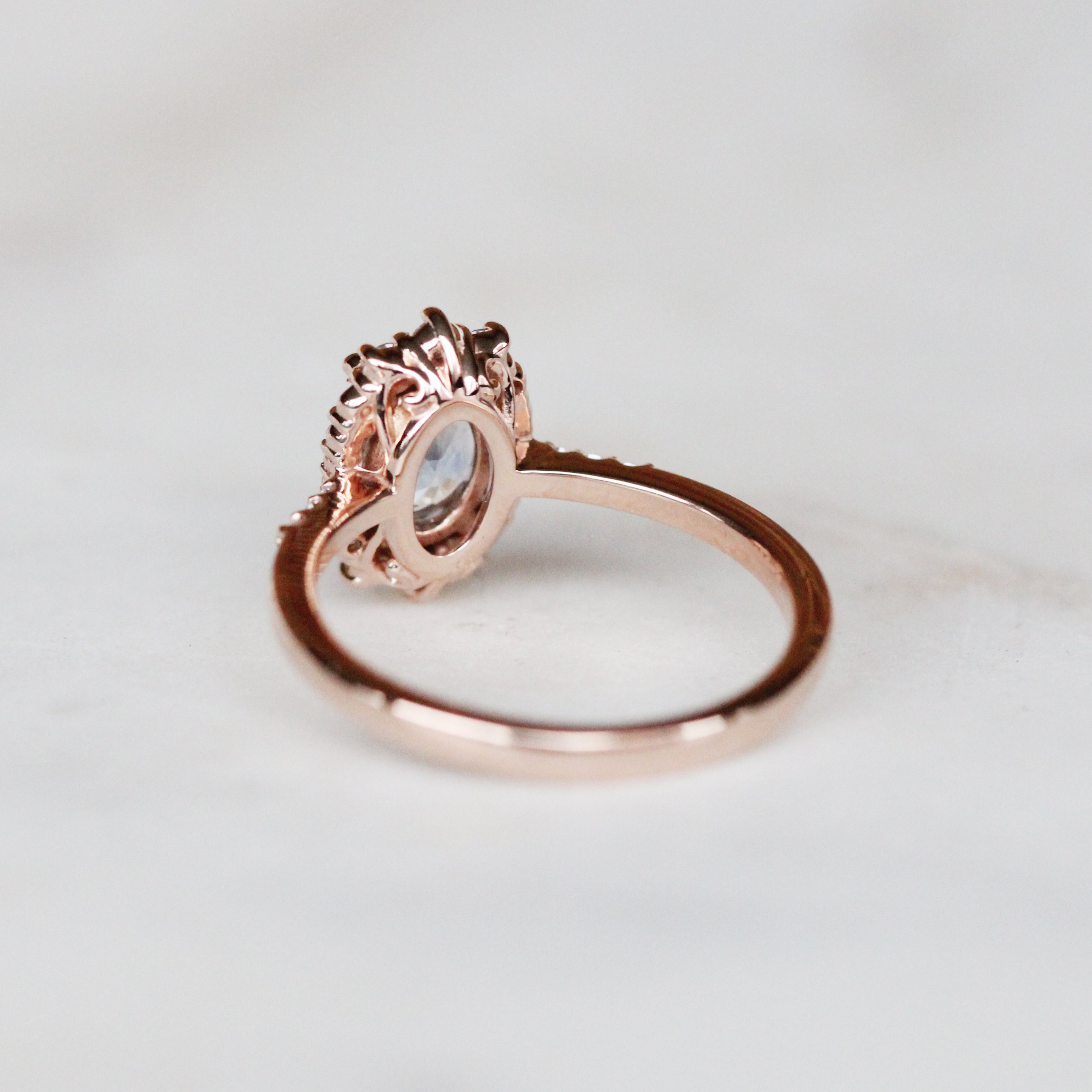 1.42 Carat Grace Sapphire Ring in 14k Rose Gold - Ready to size and ship - Midwinter Co. Alternative Bridal Rings and Modern Fine Jewelry