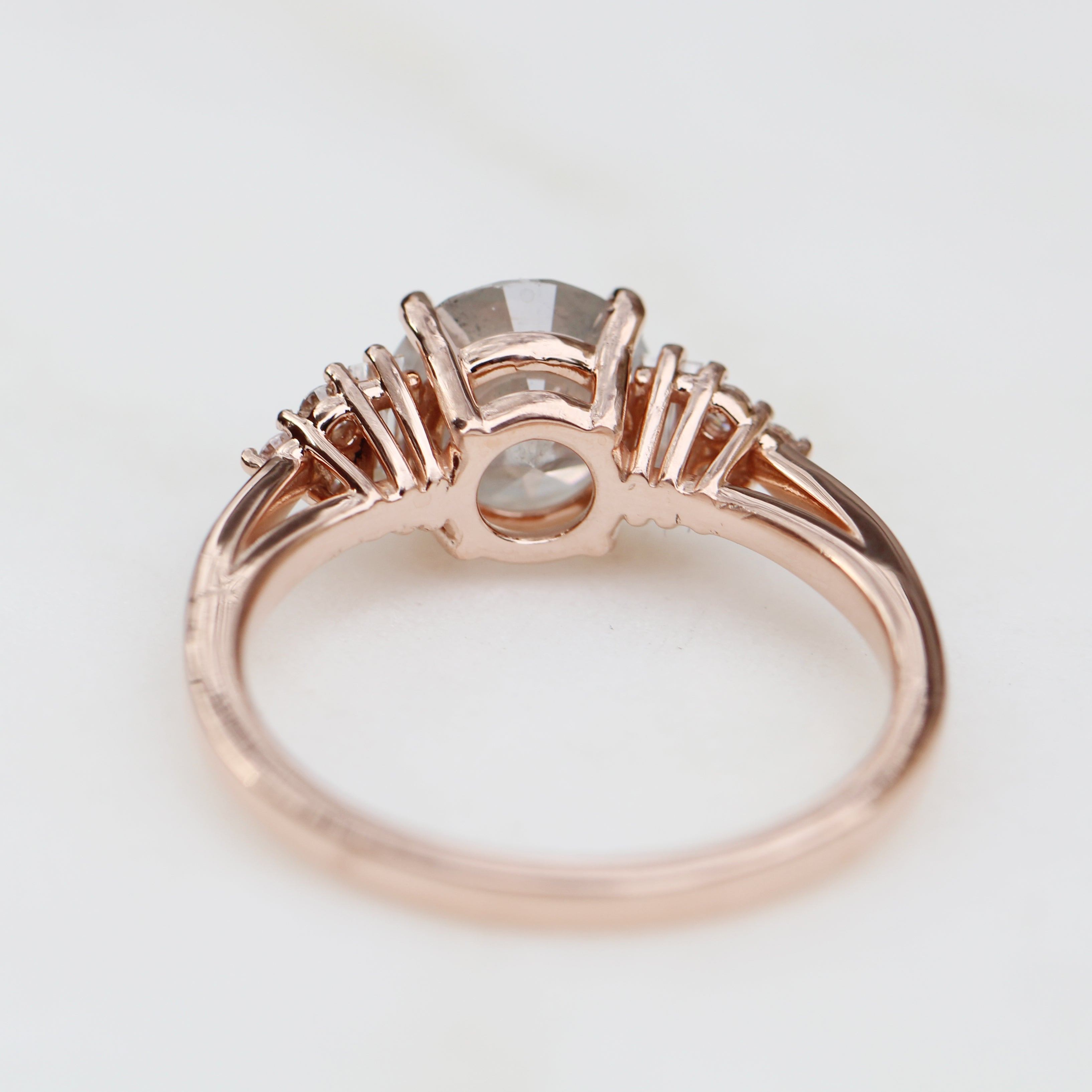 1.64 Carat Celestial Diamond Autumn Ring in 14k Rose Gold - Ready to size and ship - Midwinter Co. Alternative Bridal Rings and Modern Fine Jewelry