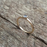 Custom Bezel Set Gray Diamond Ring