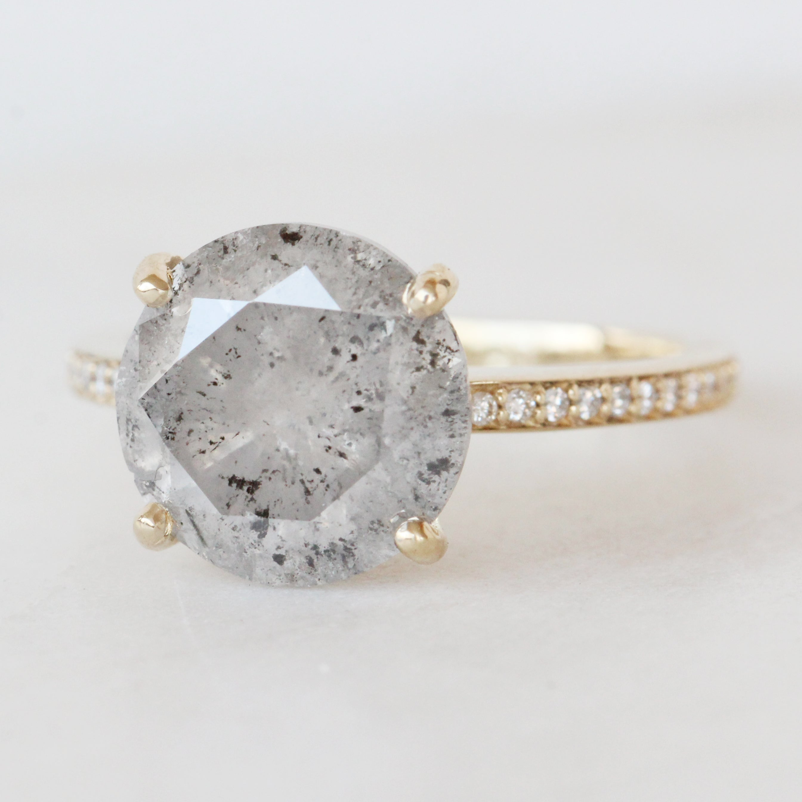 Imani Ring with a 4.87 Carat Celestial Diamond in 14k Yellow Gold - Ready to size and ship - Midwinter Co. Alternative Bridal Rings and Modern Fine Jewelry