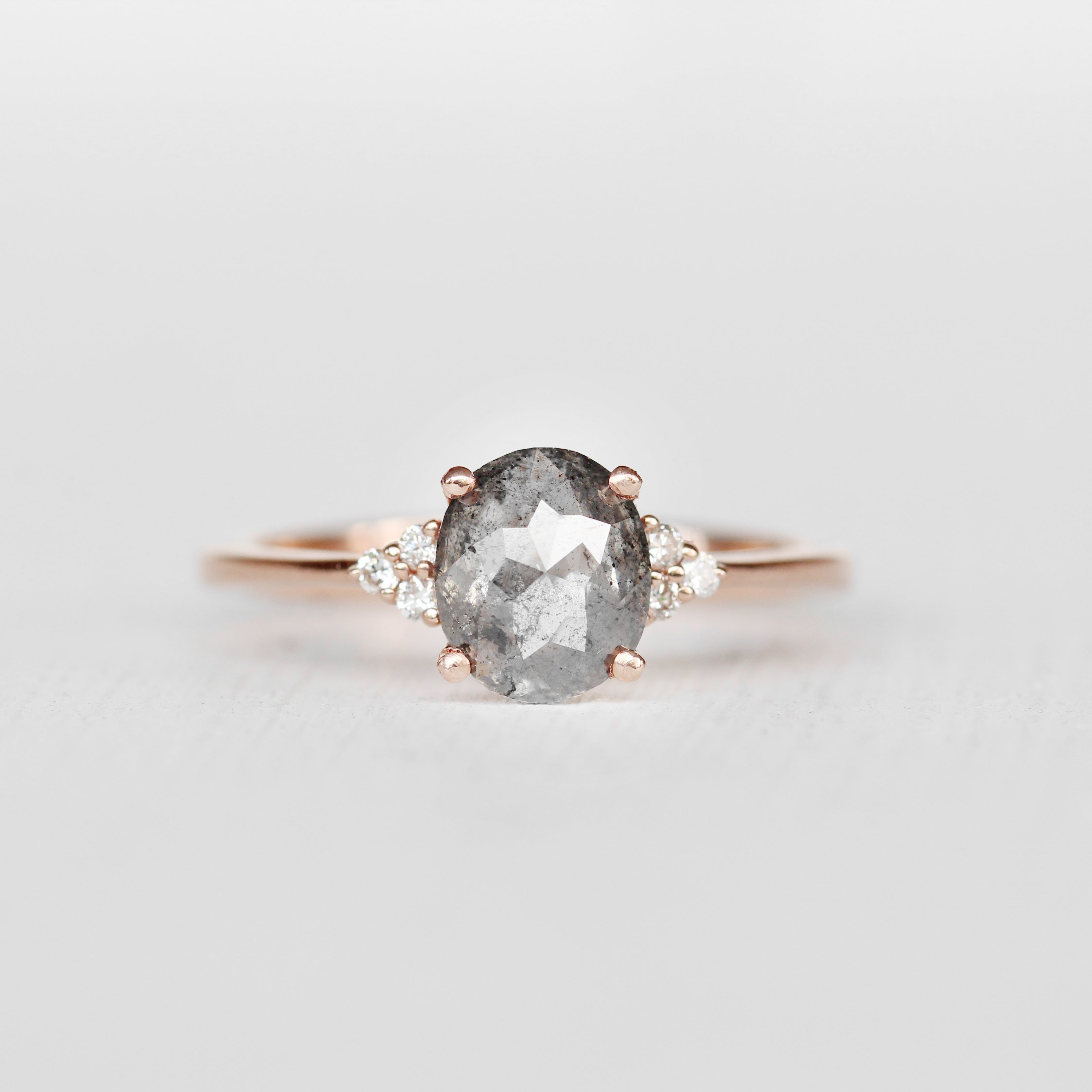 Imogene Ring with a 1.02 ct Celestial Diamond in 10k Rose Gold - Ready to size and ship