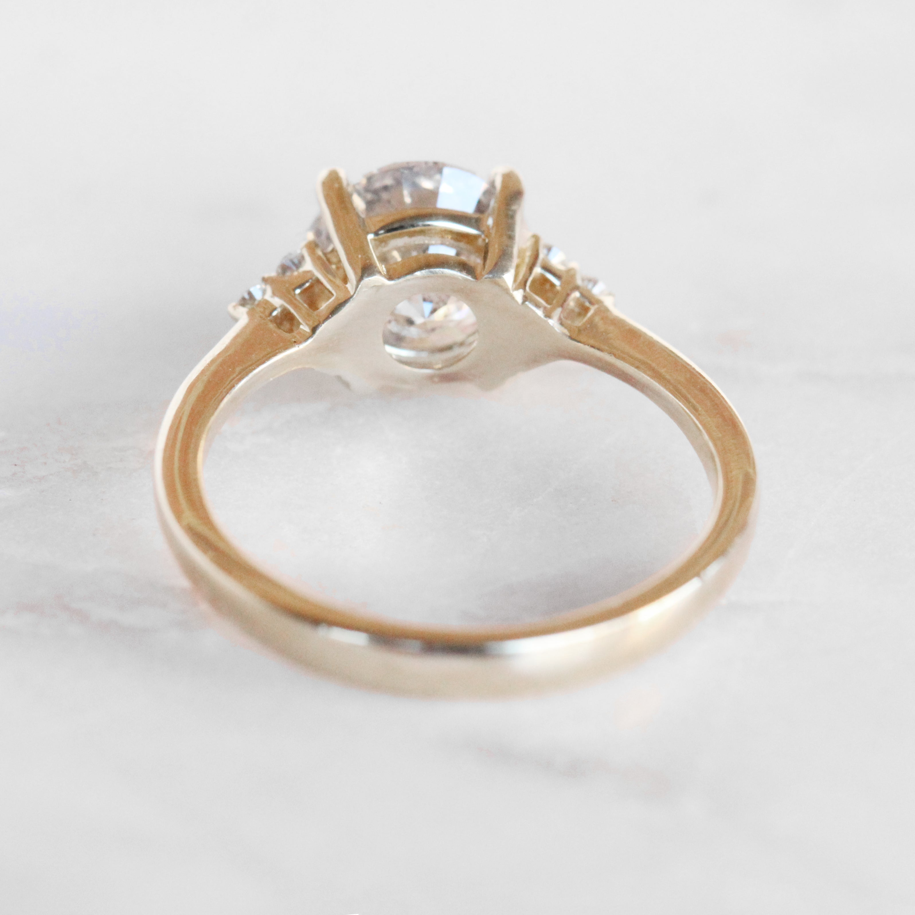 Imogene Ring with a 2.01 Carat Celestial Diamond in 14k Yellow Gold - Ready to Size and Ship - Midwinter Co. Alternative Bridal Rings and Modern Fine Jewelry