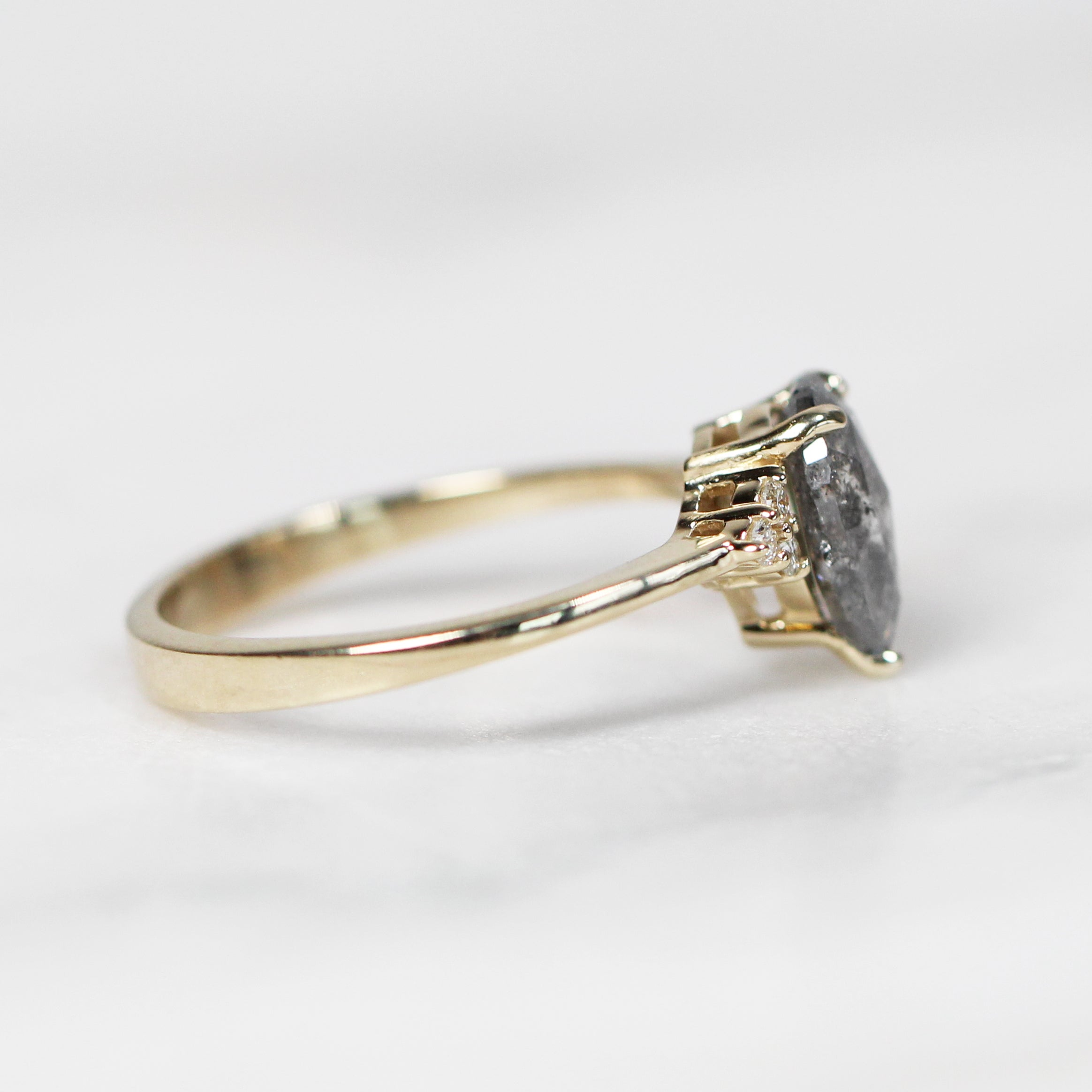Imogene Ring with 1.41 Carat Pear Diamond in 14k Yellow Gold - Ready to Size and Ship - Celestial Diamonds ® by Midwinter Co.