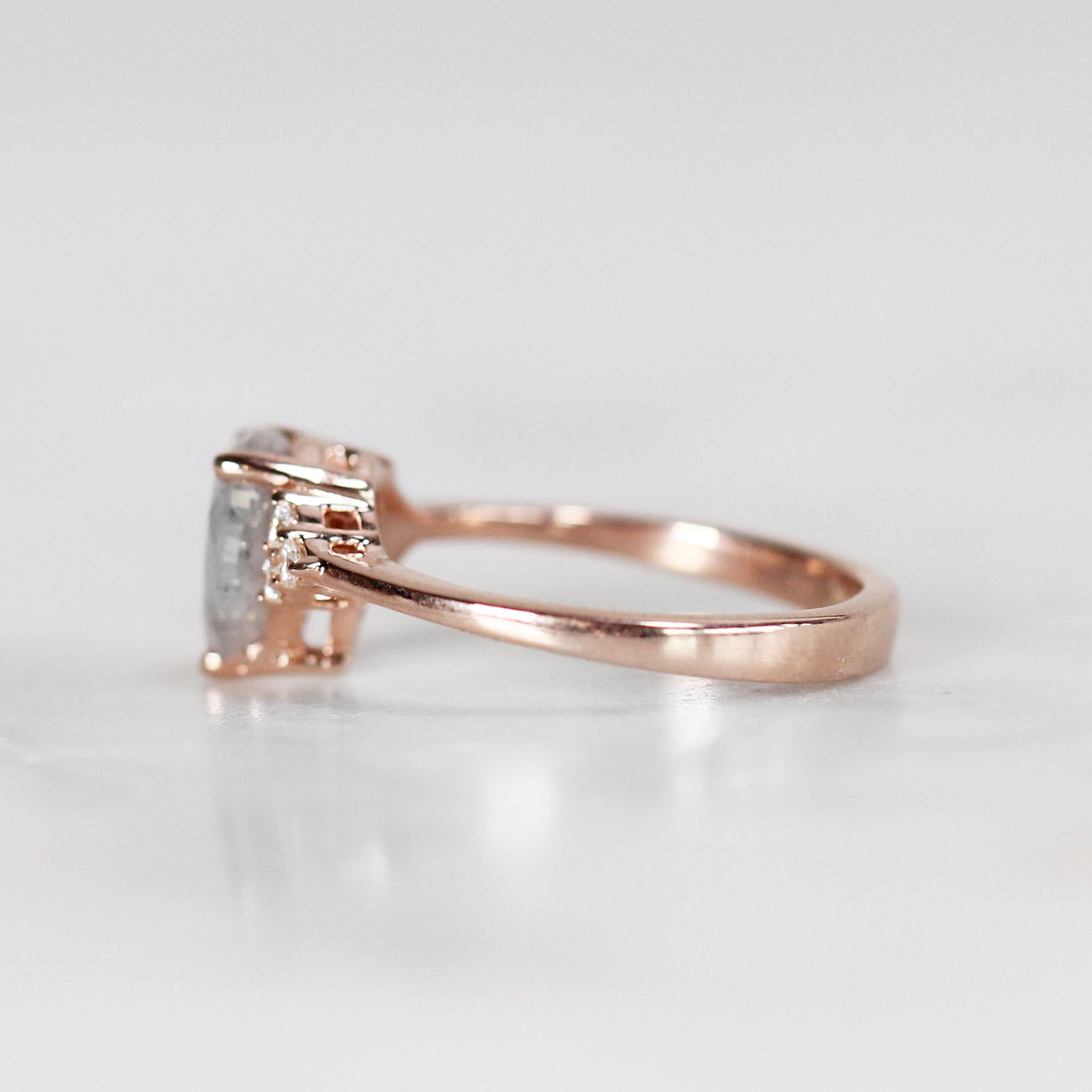 Imogene Ring with 1.30 Carat Pear Diamond in 10k Rose Gold - Ready to size and ship - Celestial Diamonds ® by Midwinter Co.