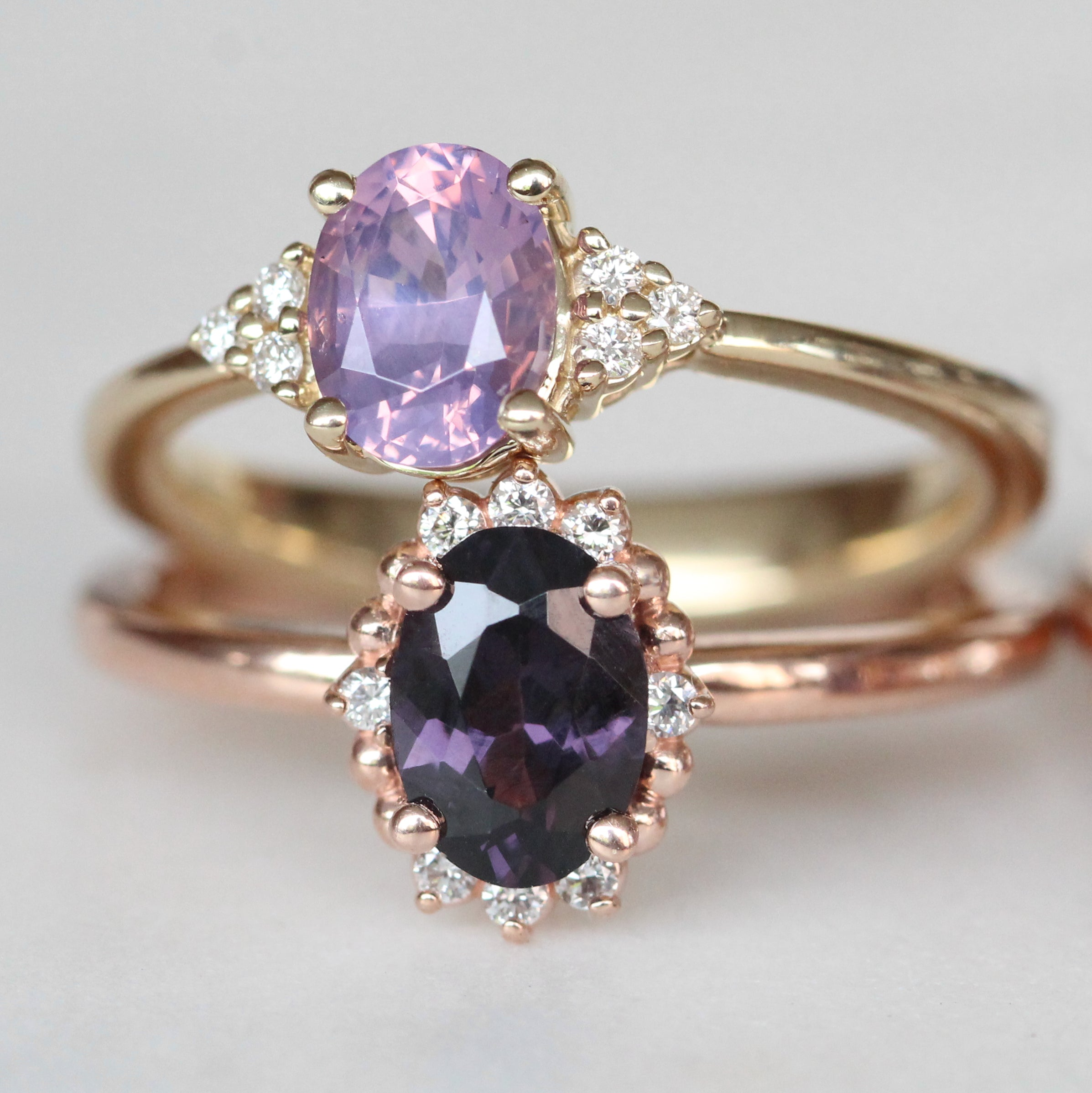 Imogene ring - opalescent purple Sapphire 14k yellow gold - ready to size and ship - Salt & Pepper Celestial Diamond Engagement Rings and Wedding Bands  by Midwinter Co.