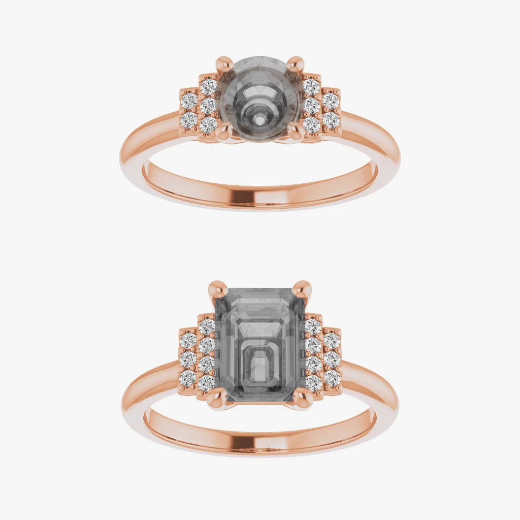 Isabella Setting - Midwinter Co. Alternative Bridal Rings and Modern Fine Jewelry