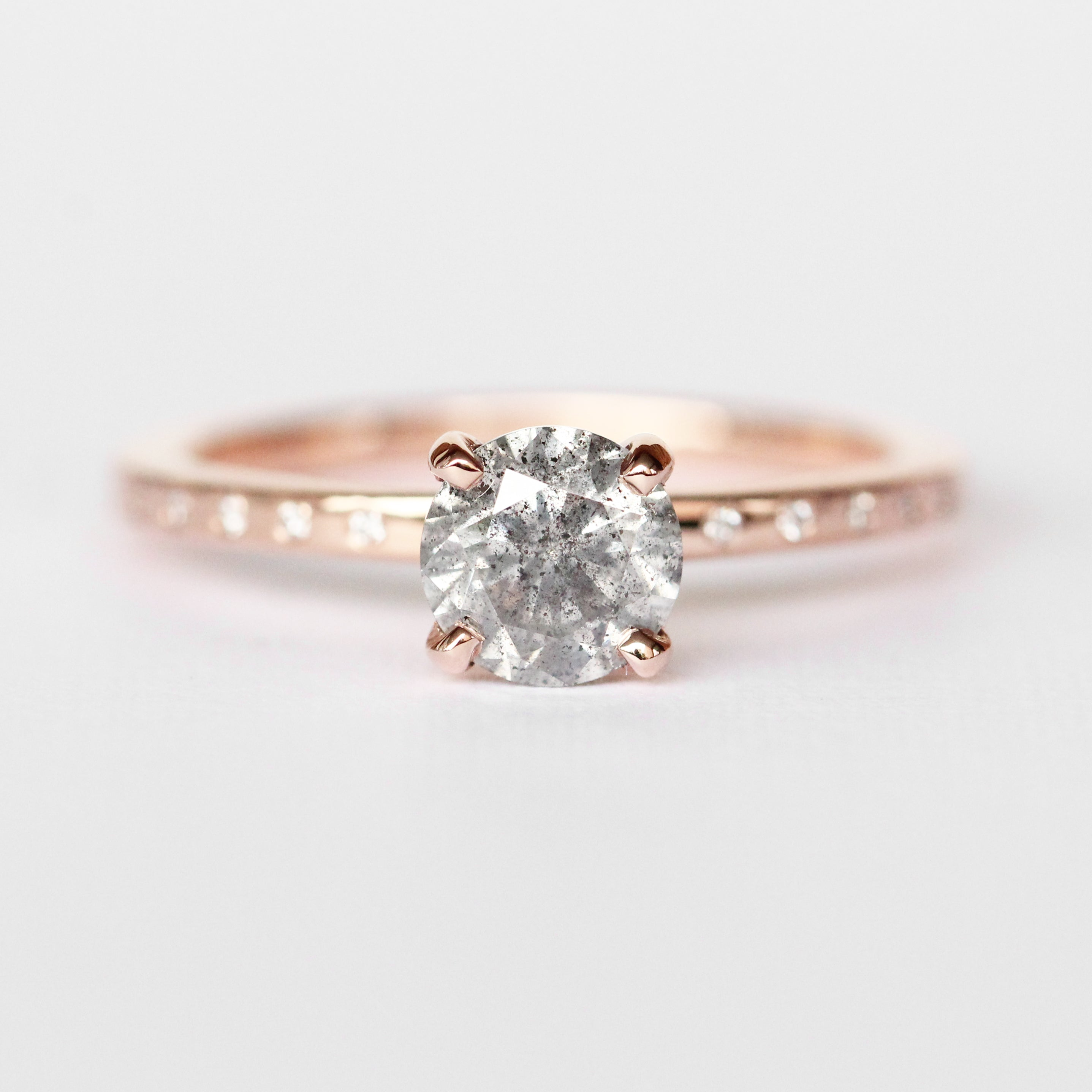 Heath Ring with an .83 ct Celestial Diamond in 14k Rose Gold - Ready to Size and Ship - Celestial Diamonds ® by Midwinter Co.